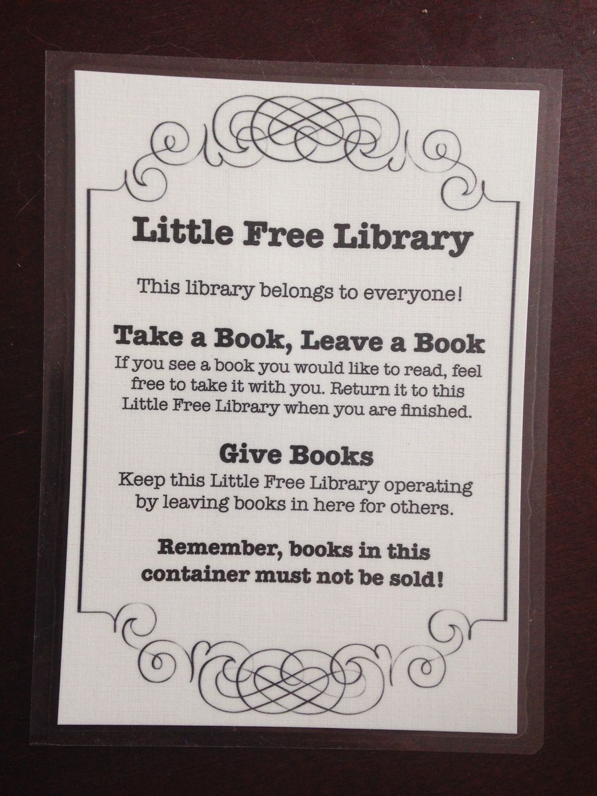 How to Keep Your Little Free Library Stocked | Library signs, Free ...