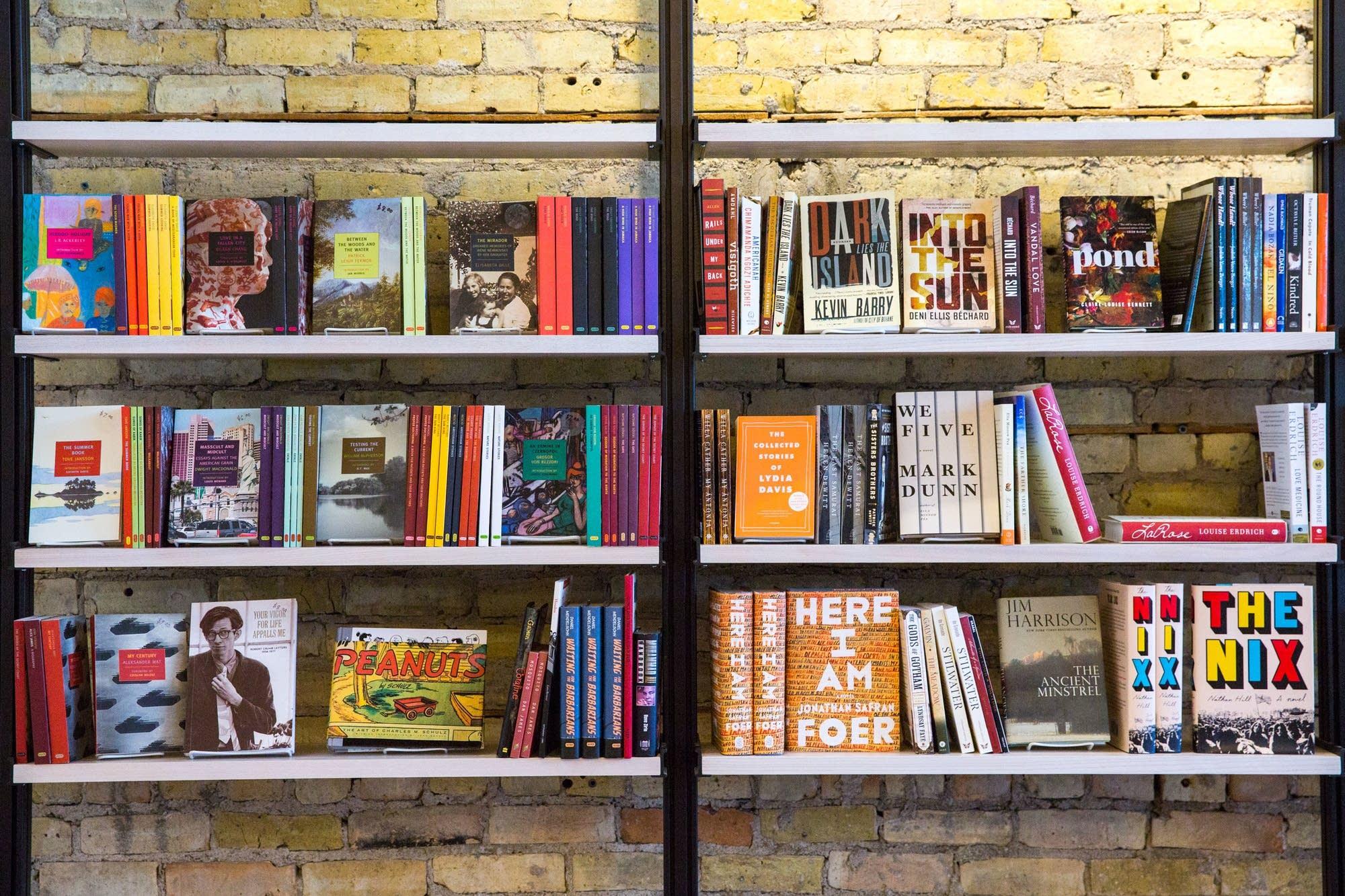 Bookstore shelves photo