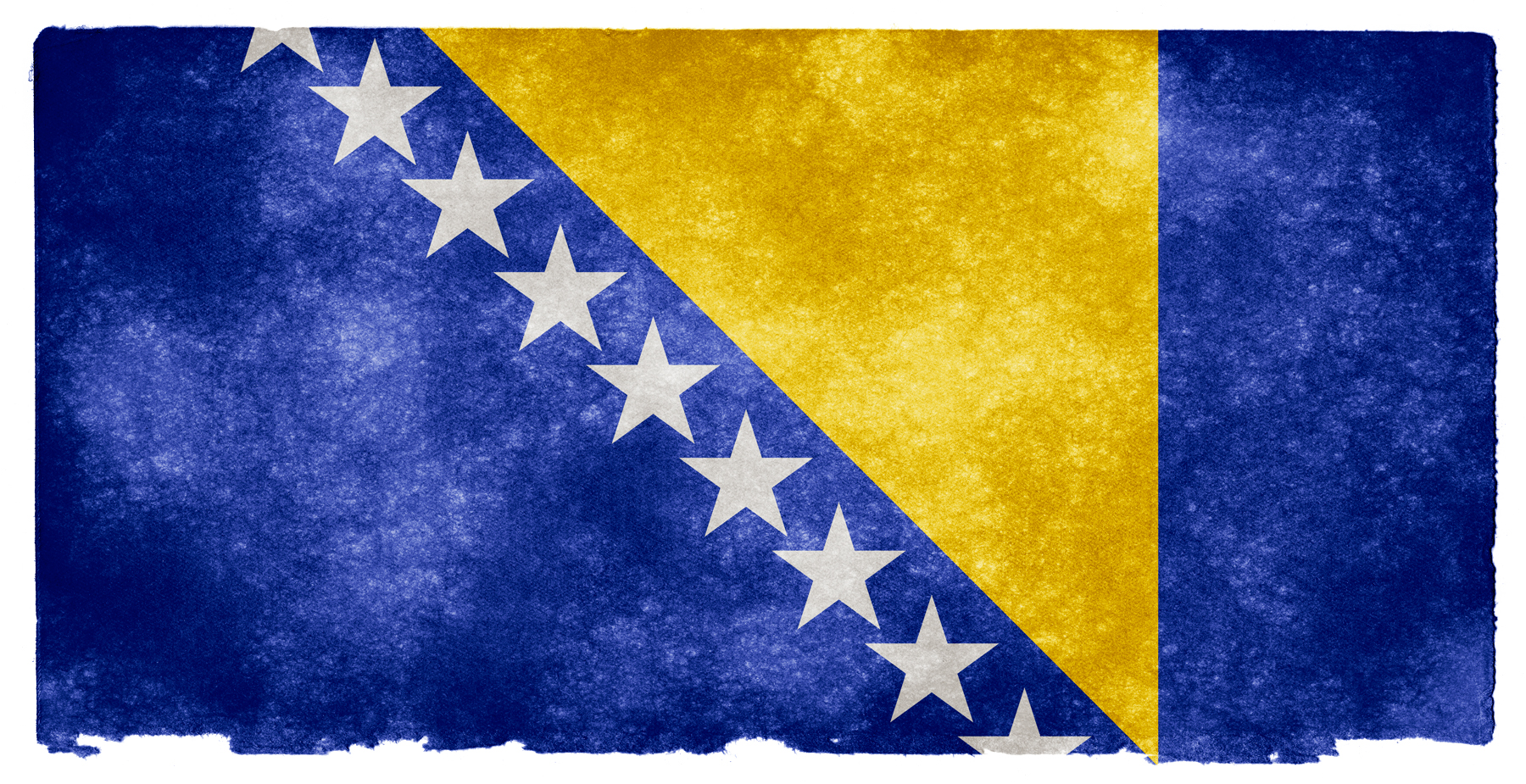 Bosnia and herzegovina grunge flag photo