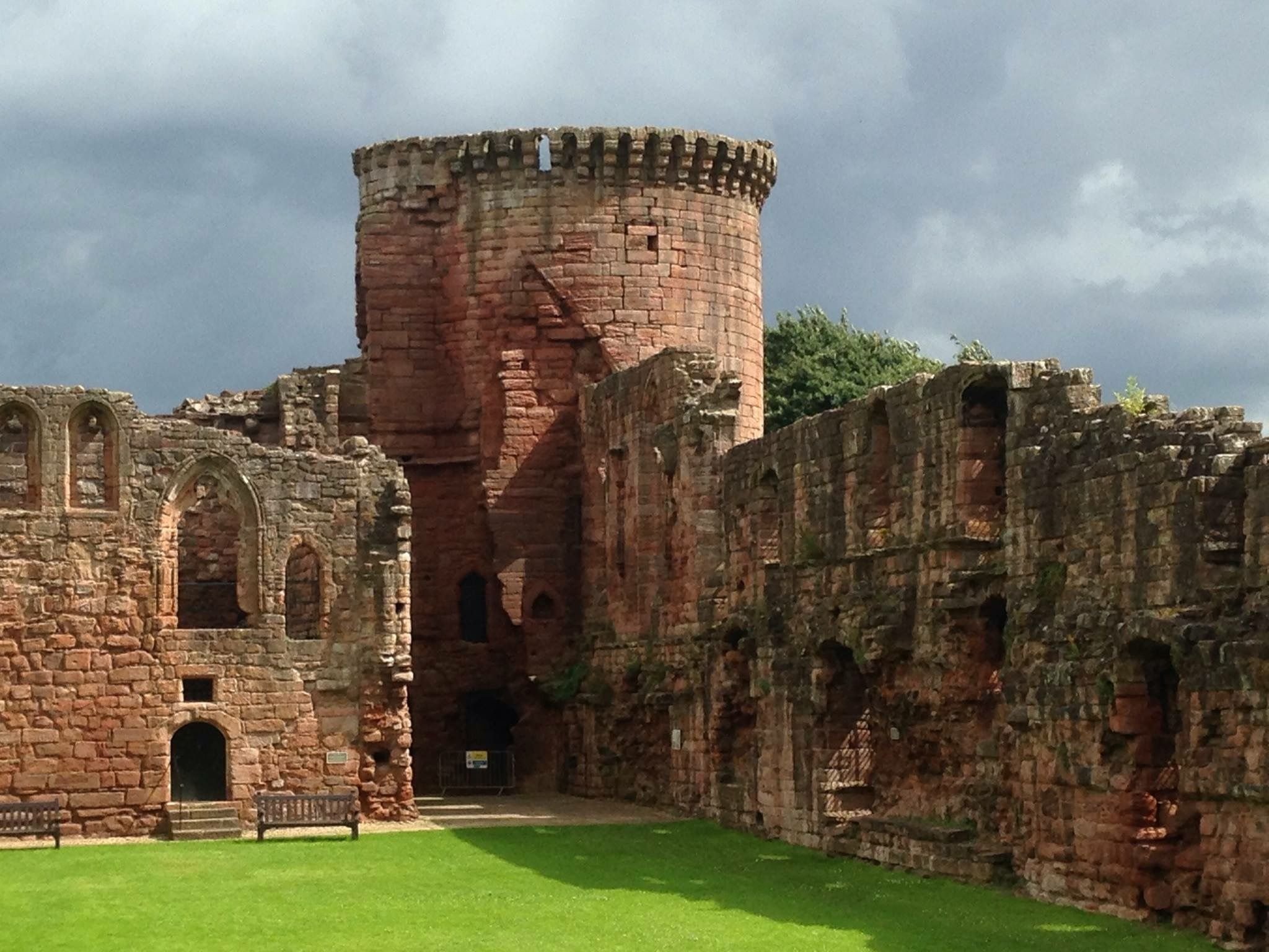 Bothwell Castle is a large medieval castle sited on a high, steep ...