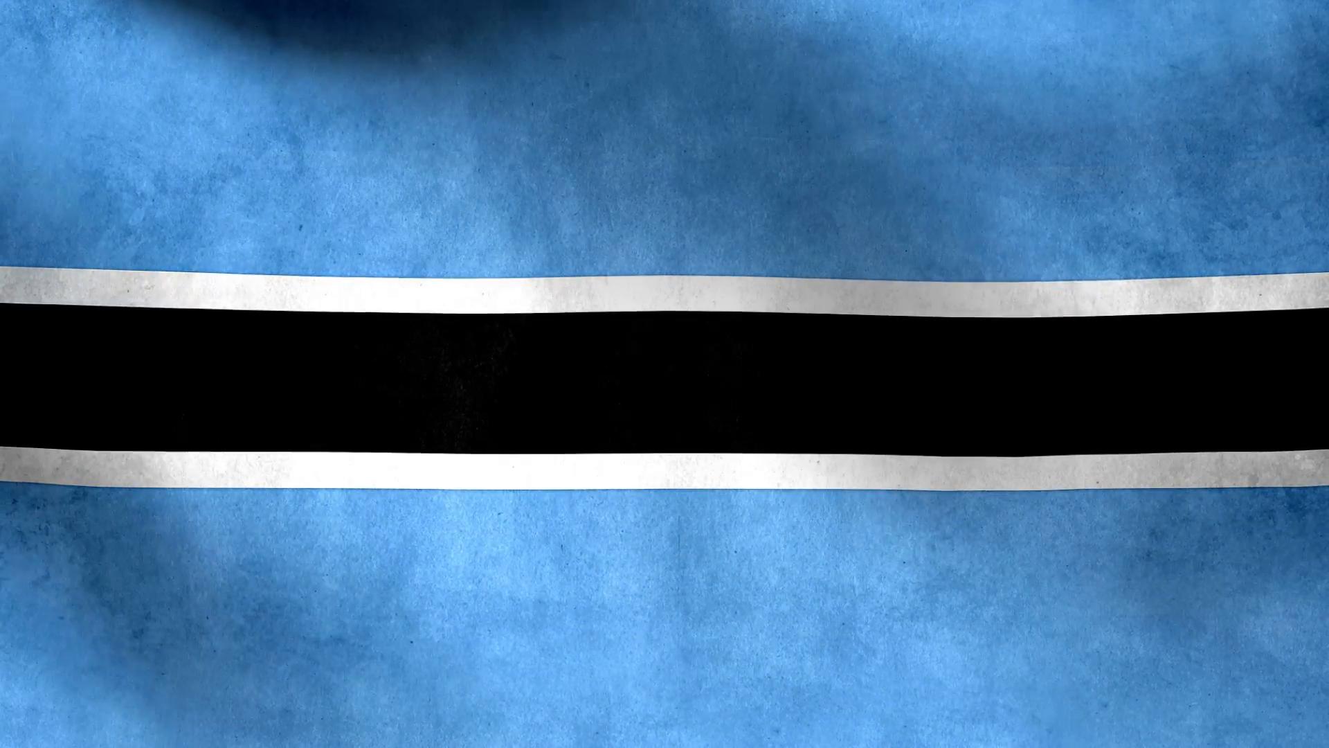 National flag of Botswana grunge background Motion Background ...