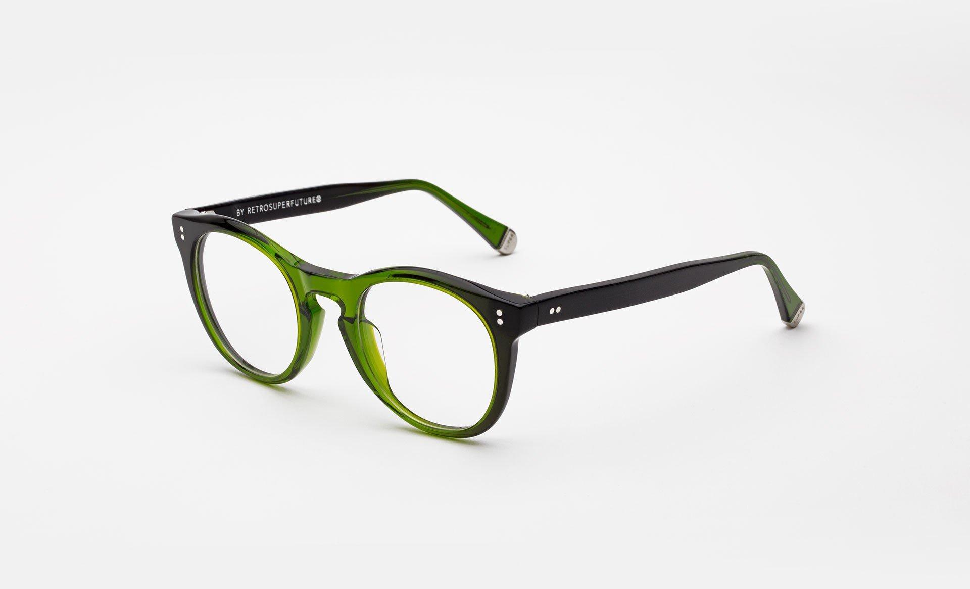 Super - Numero 28 Bottle Green Eyeglasses / Demo Lenses – New York Glass