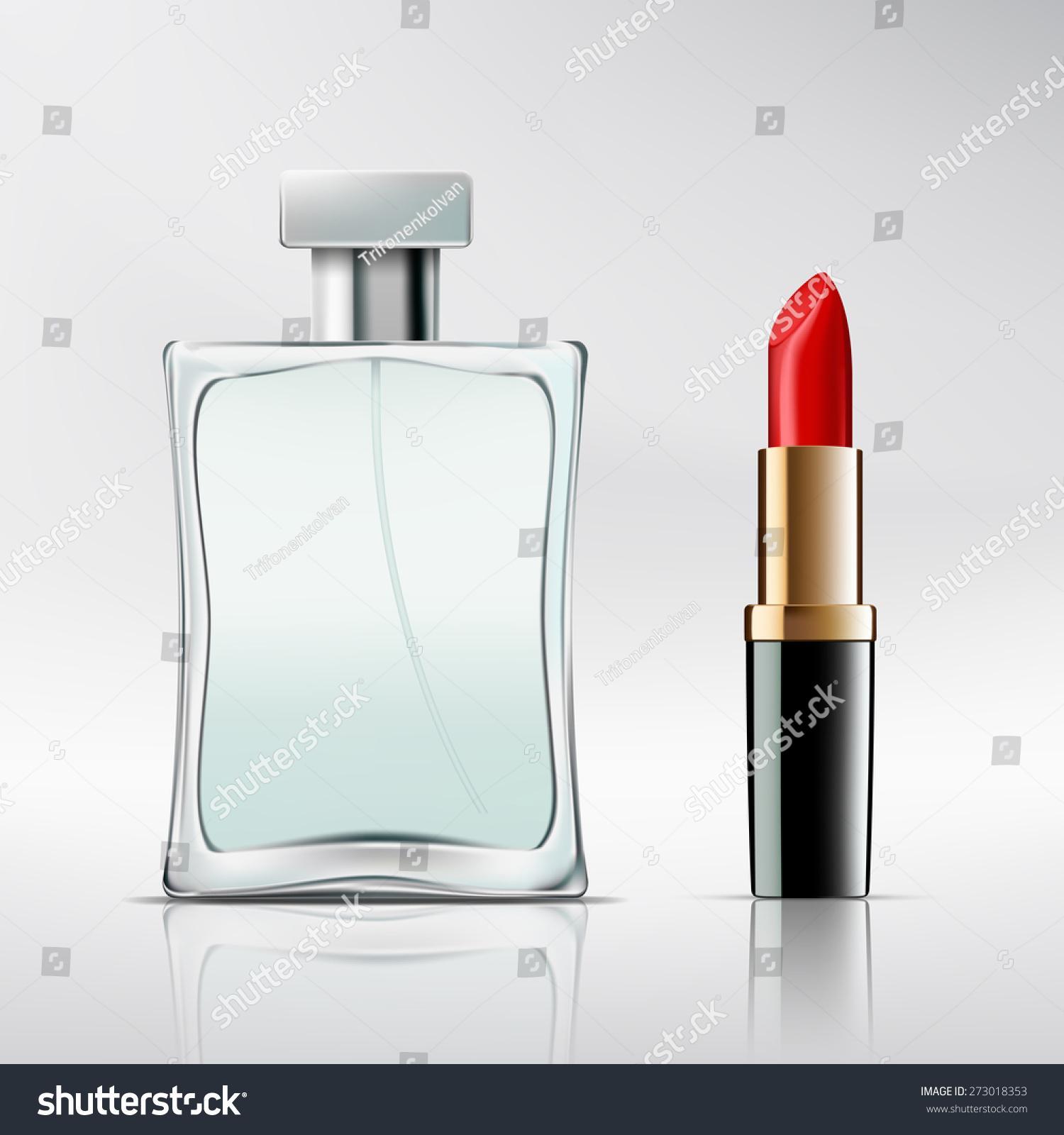 Bottle Perfume Lipstick Vector Image Stock Photo (Photo, Vector ...