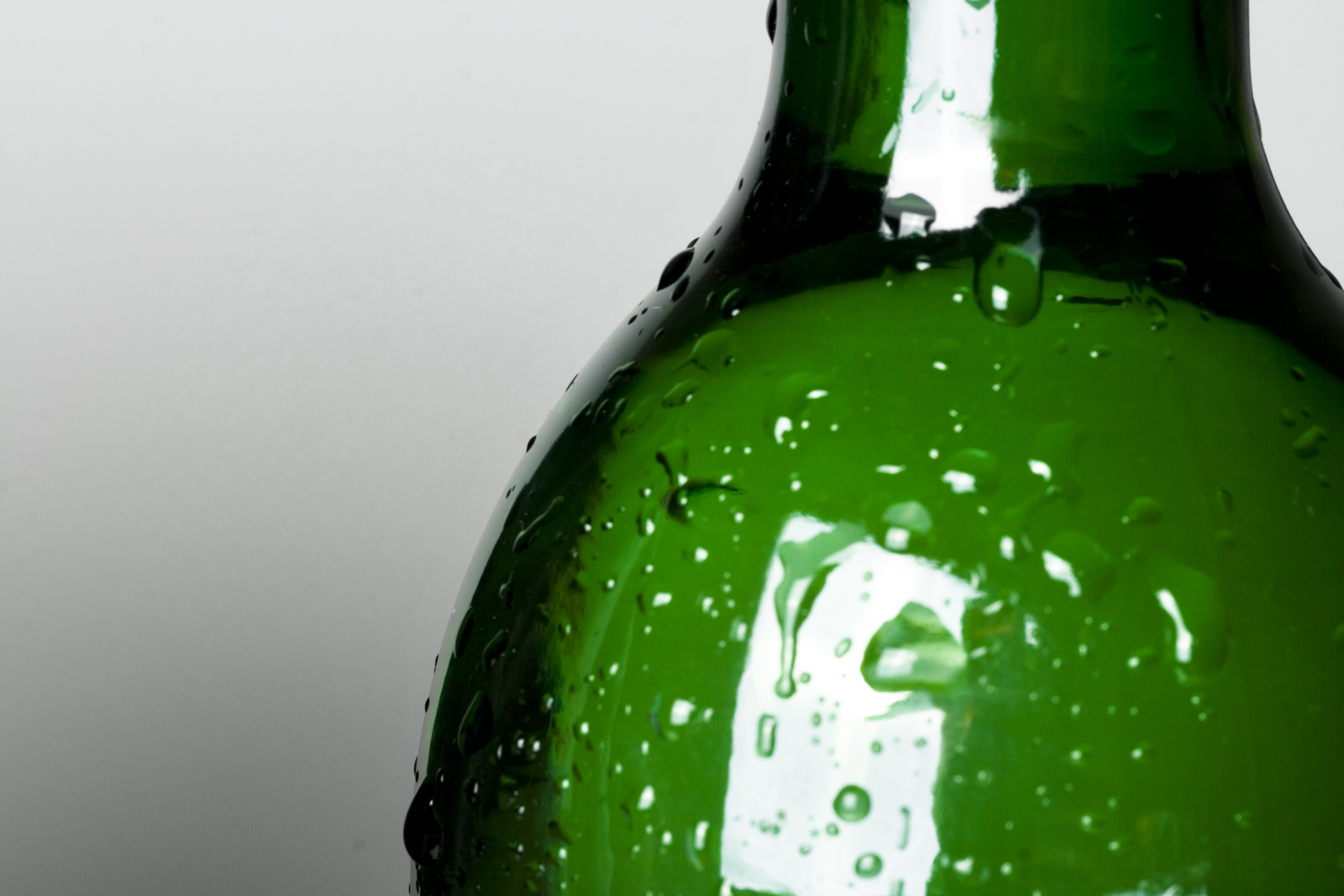 Bottle with water drops photo