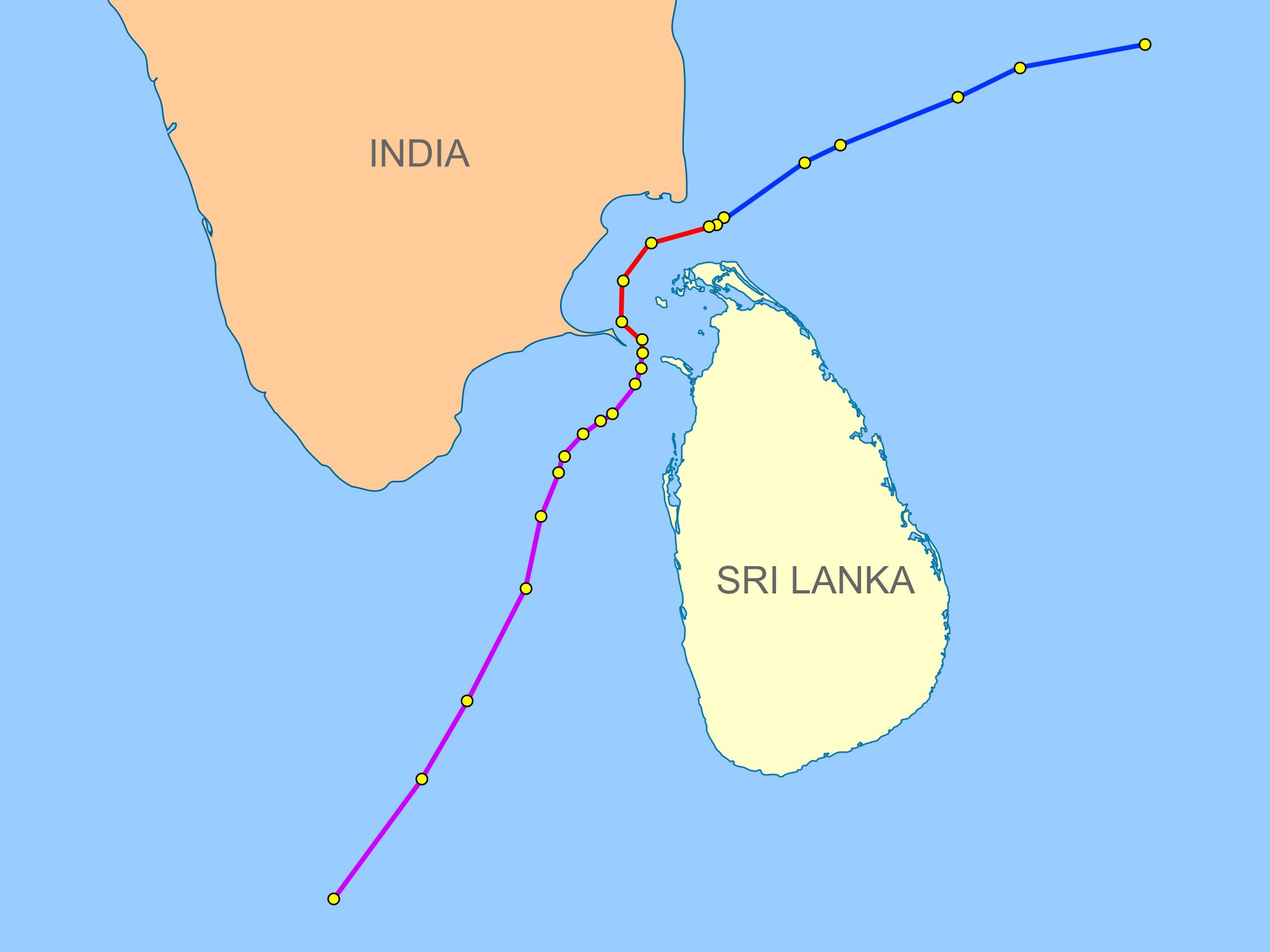 India–Sri Lanka maritime boundary agreements - Wikipedia