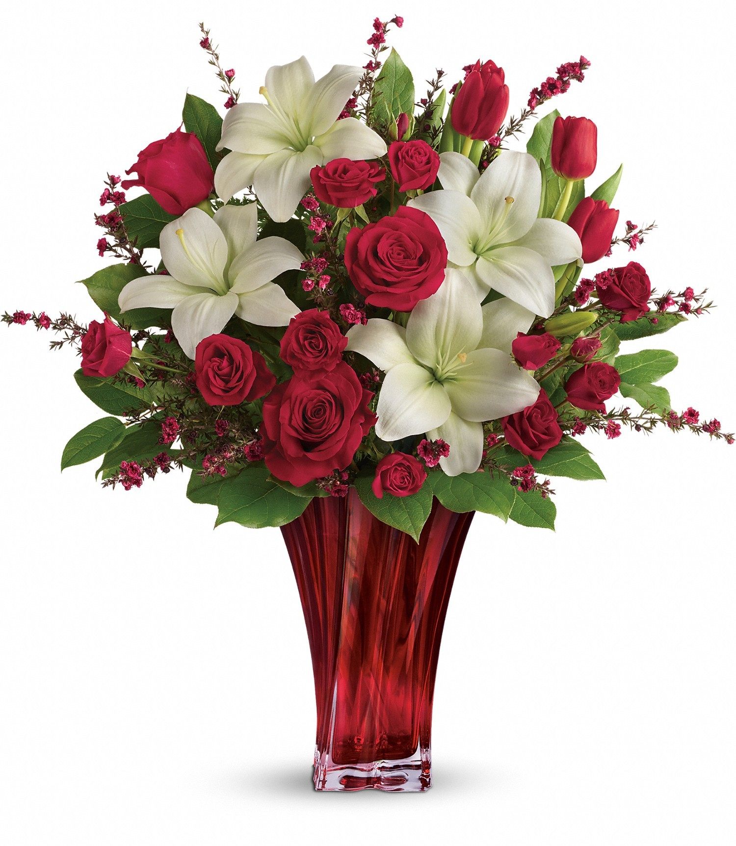Love's Passion Bouquet by Teleflora in Wimberley, TX | Wimberley ...