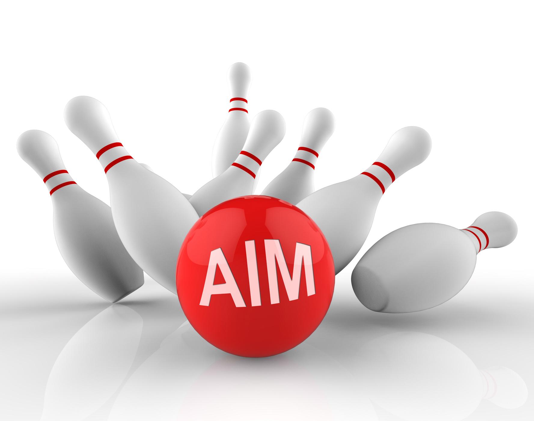 Bowling aim represents aims strike 3d rendering photo