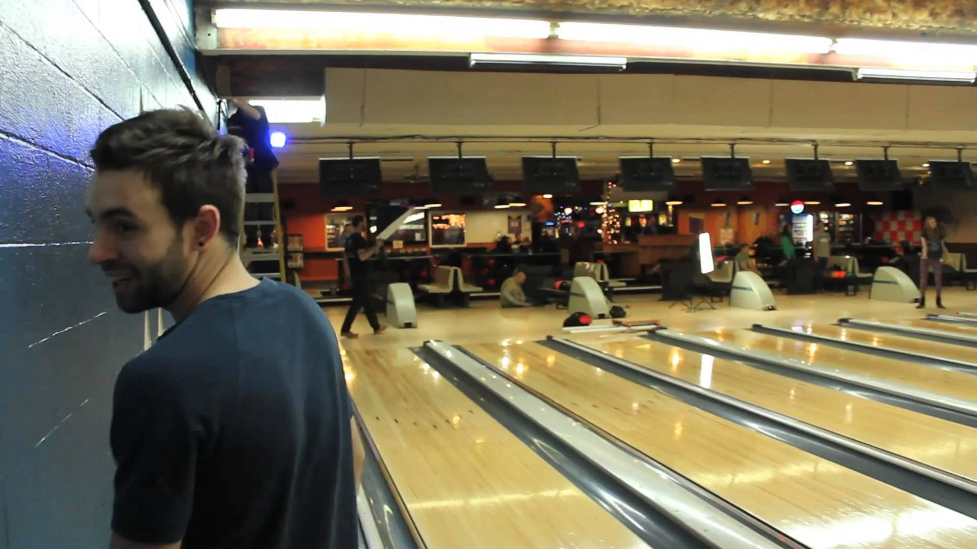 Behind the scenes at the bowling alley - YouTube
