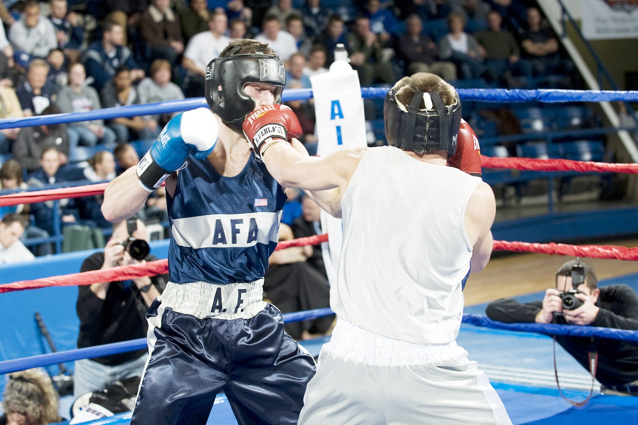 Boxing in the ring photo