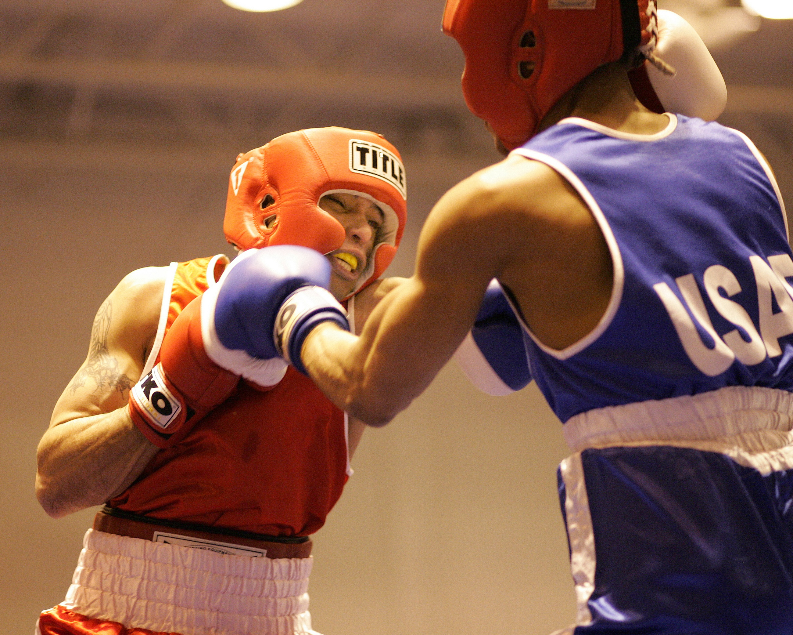 Boxing match photo