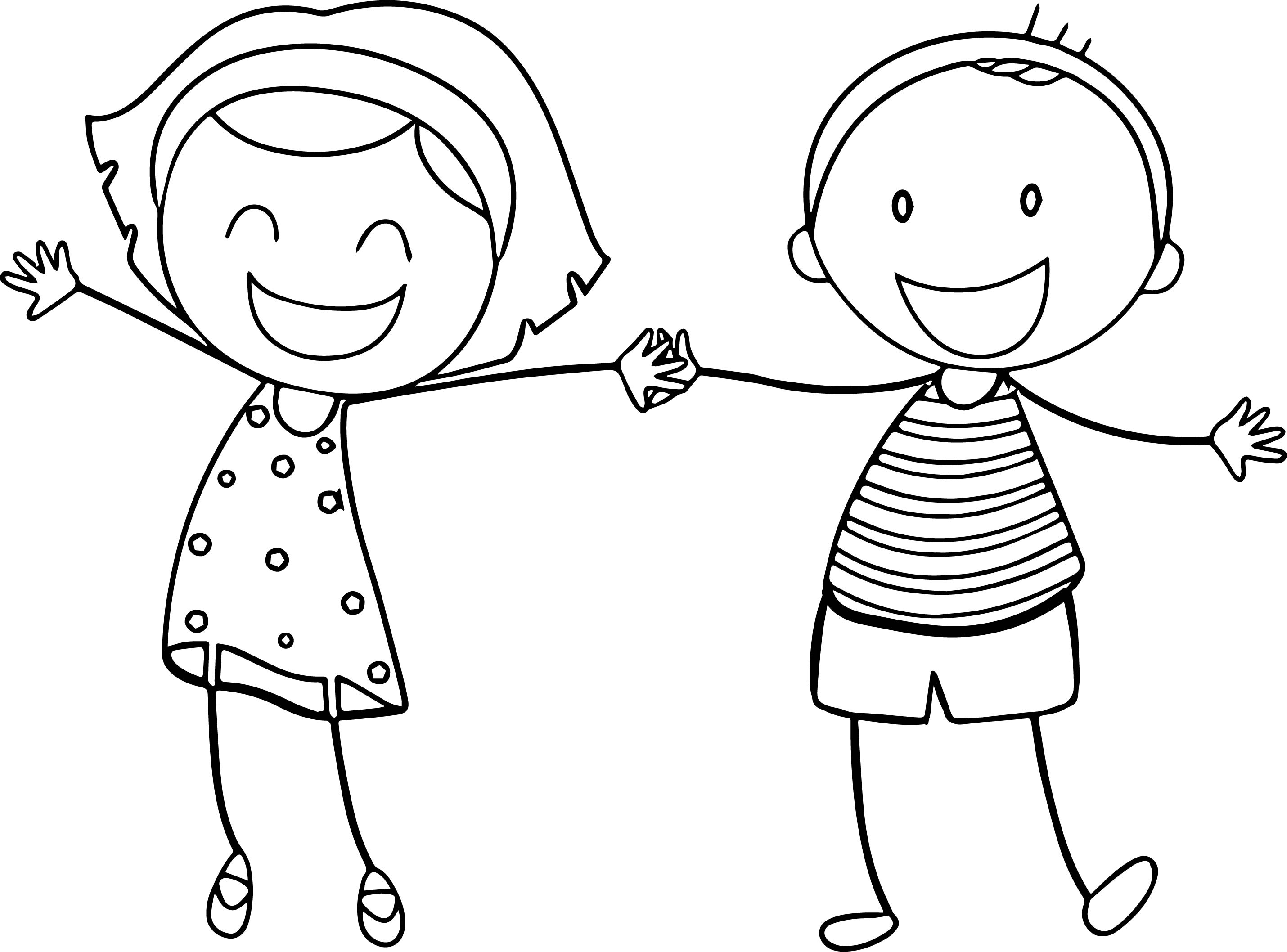 Boy And Girl Drawing at GetDrawings.com   Free for personal use Boy ...