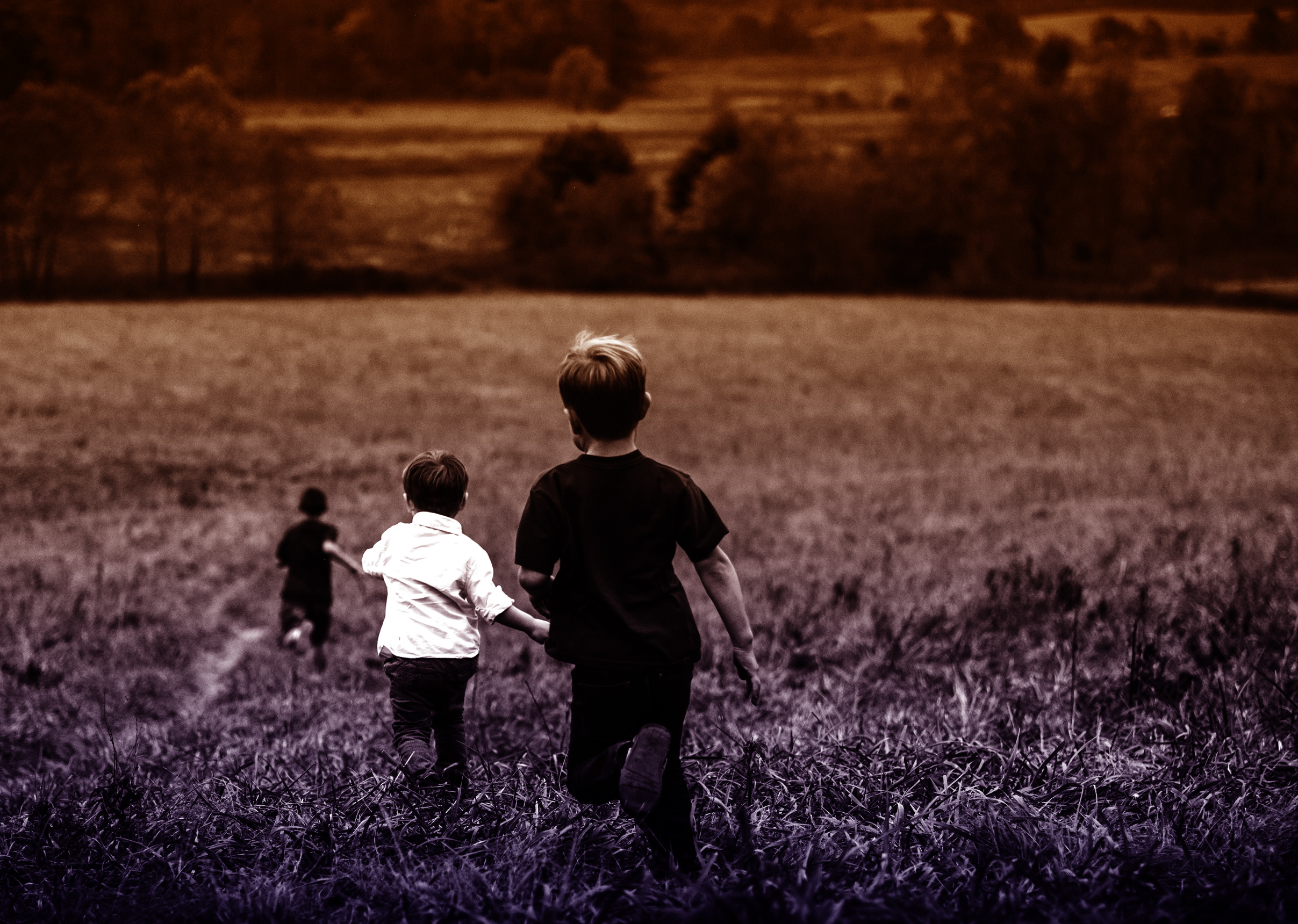 Boys Running Outdoors, Active, Preschool, Playing, Playful, HQ Photo