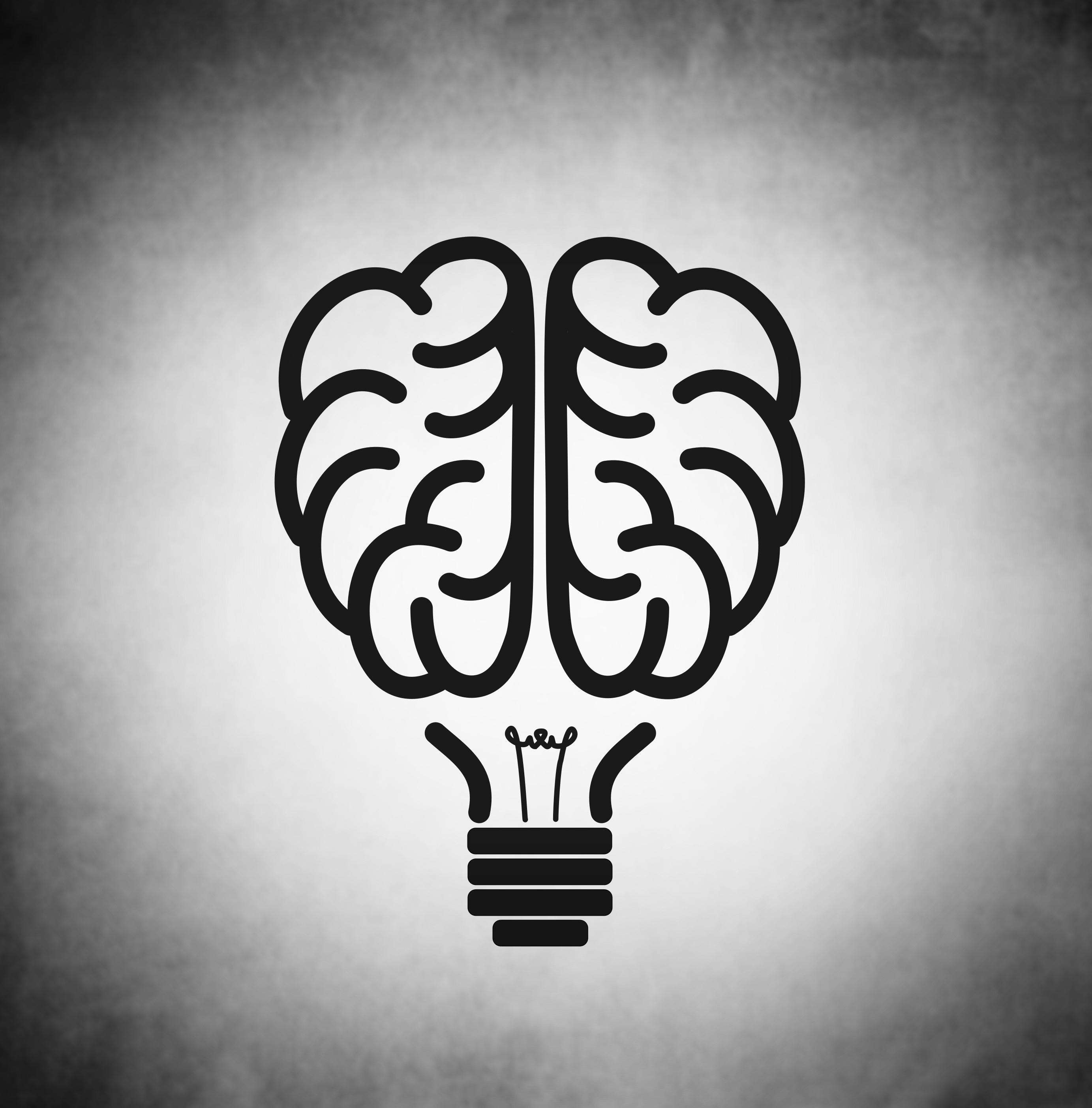 Brain as black lightbulb, Light, Mind, Mental, Medicine, HQ Photo