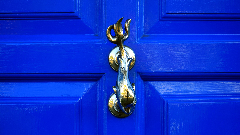 Brass Door Handle, Antique, Handle, Wood, Vintage, HQ Photo