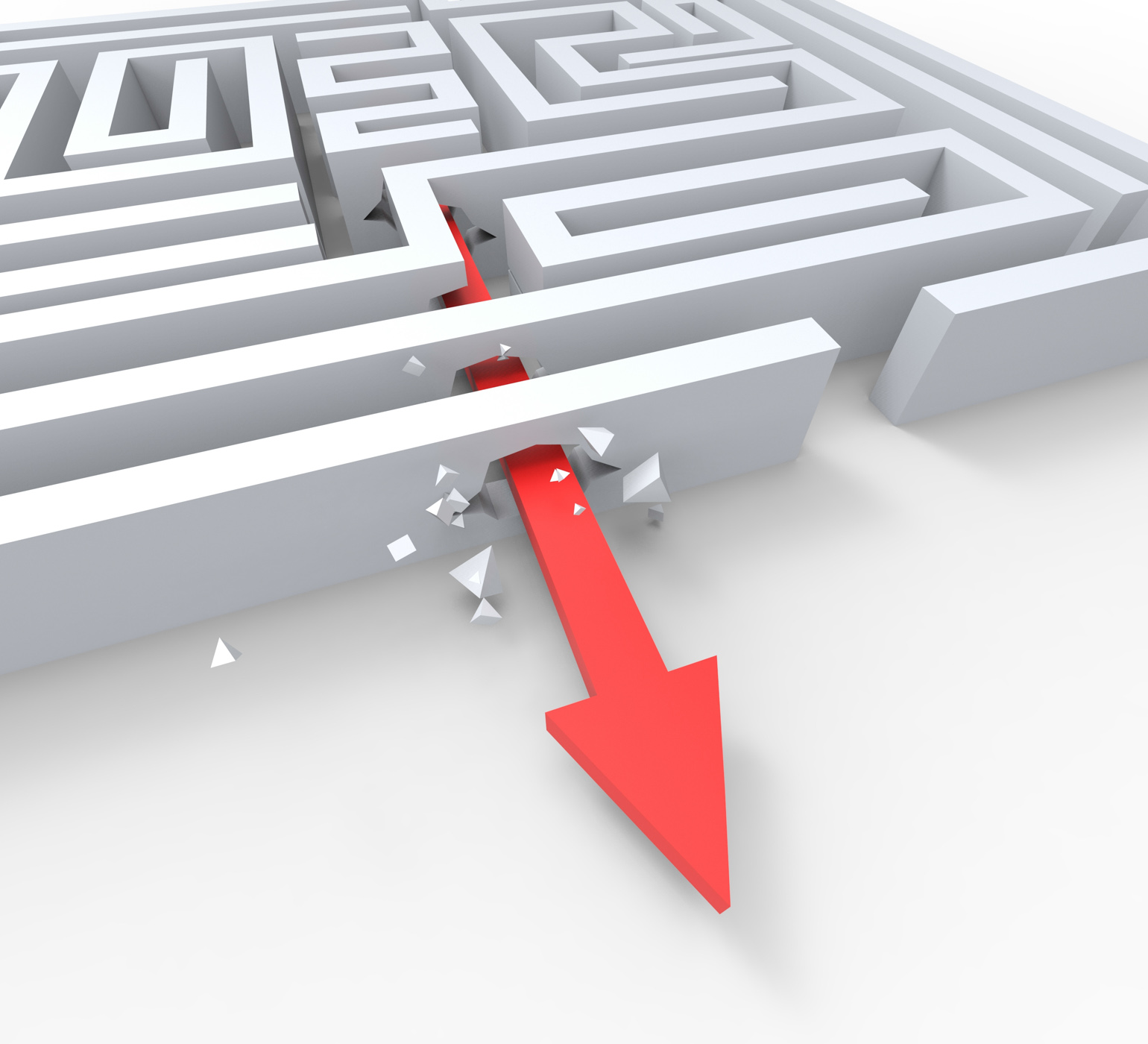 Break out of maze shows overcome puzzle exit photo