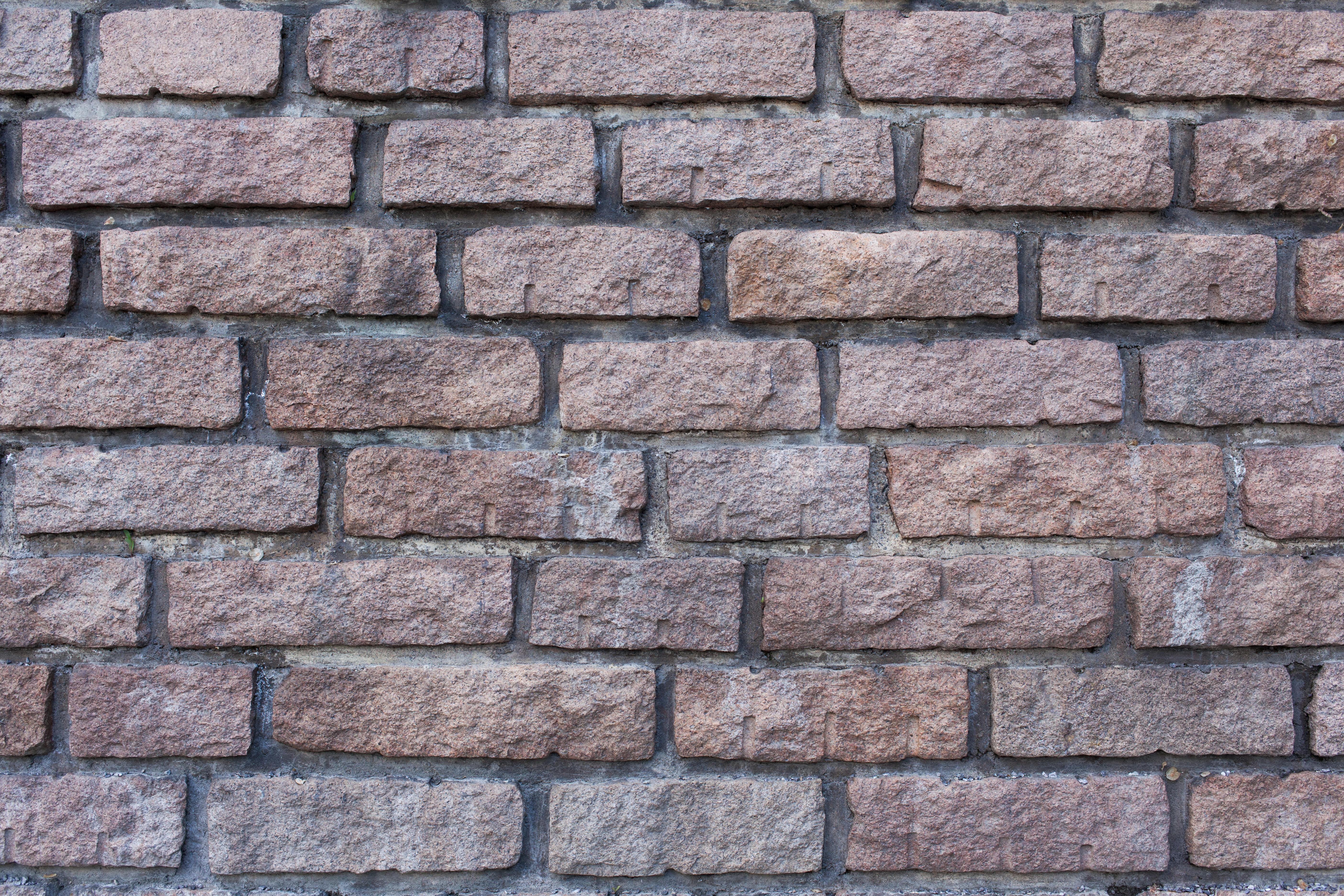 Stoned brick wall photo