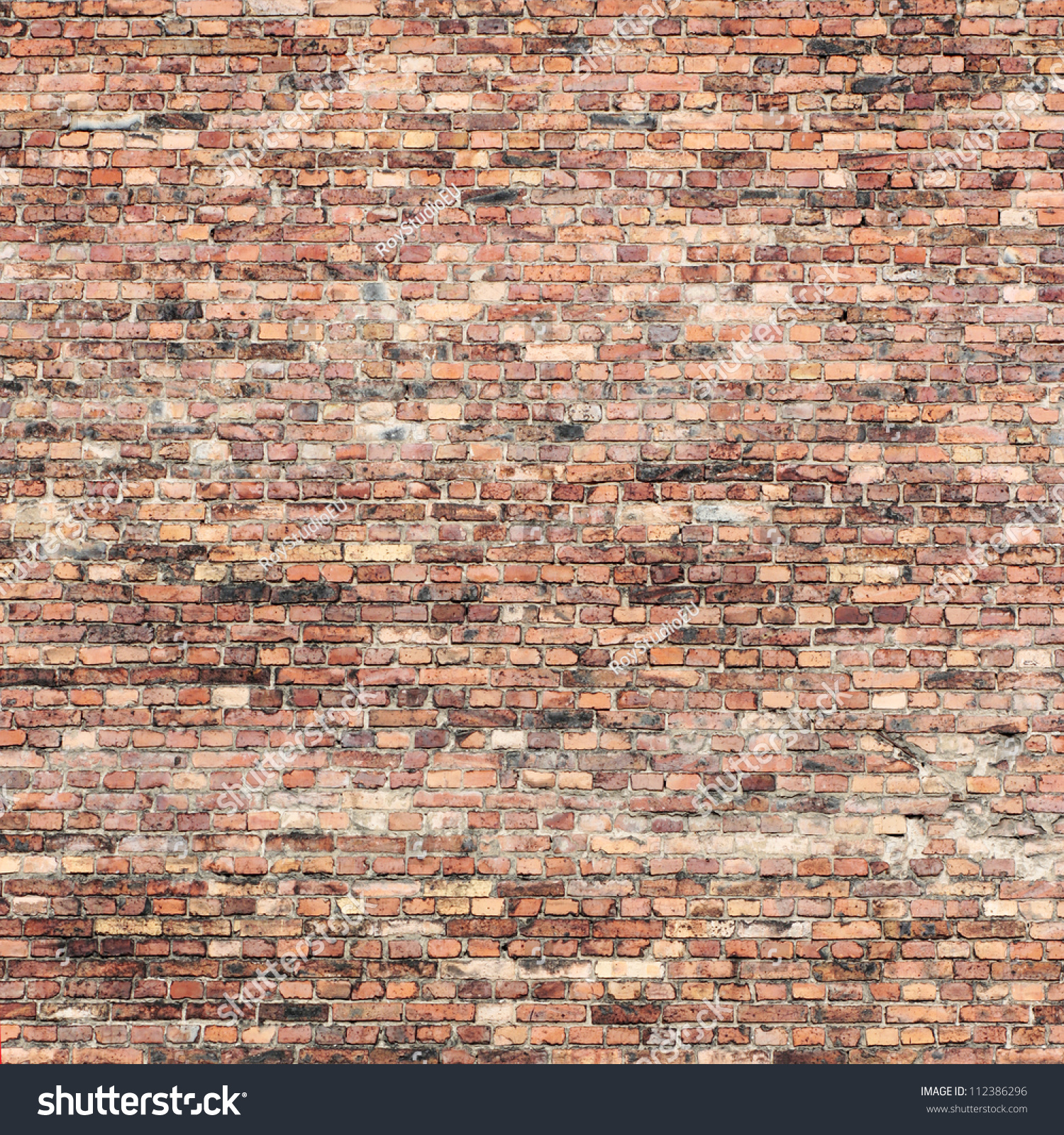 Old Red Brick Wall Texture Background Stock Illustration 112386296 ...