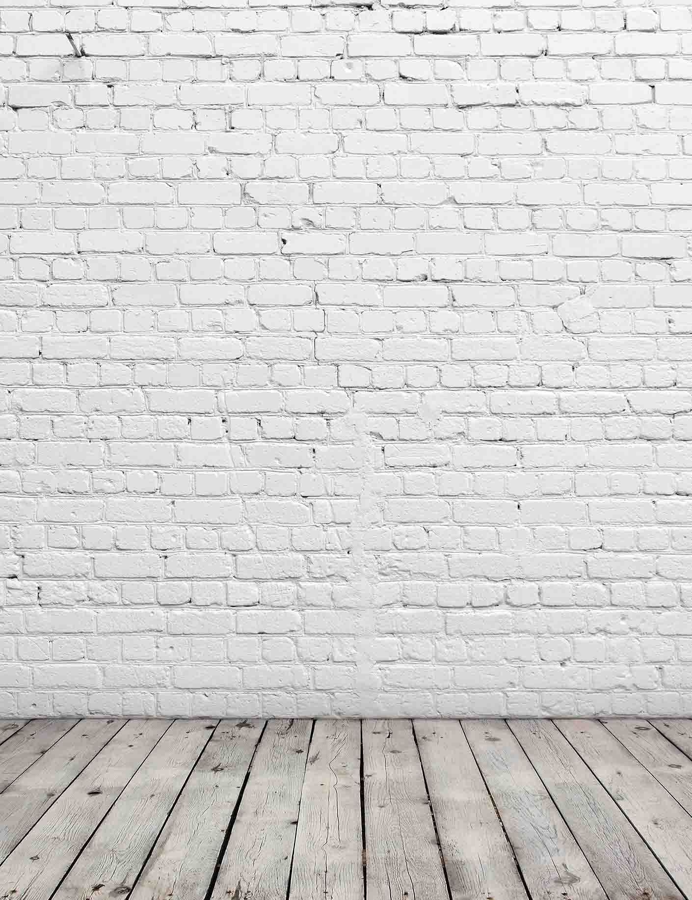 Senior White Stucco Brick Wall With Old Wood Floor Texture ...