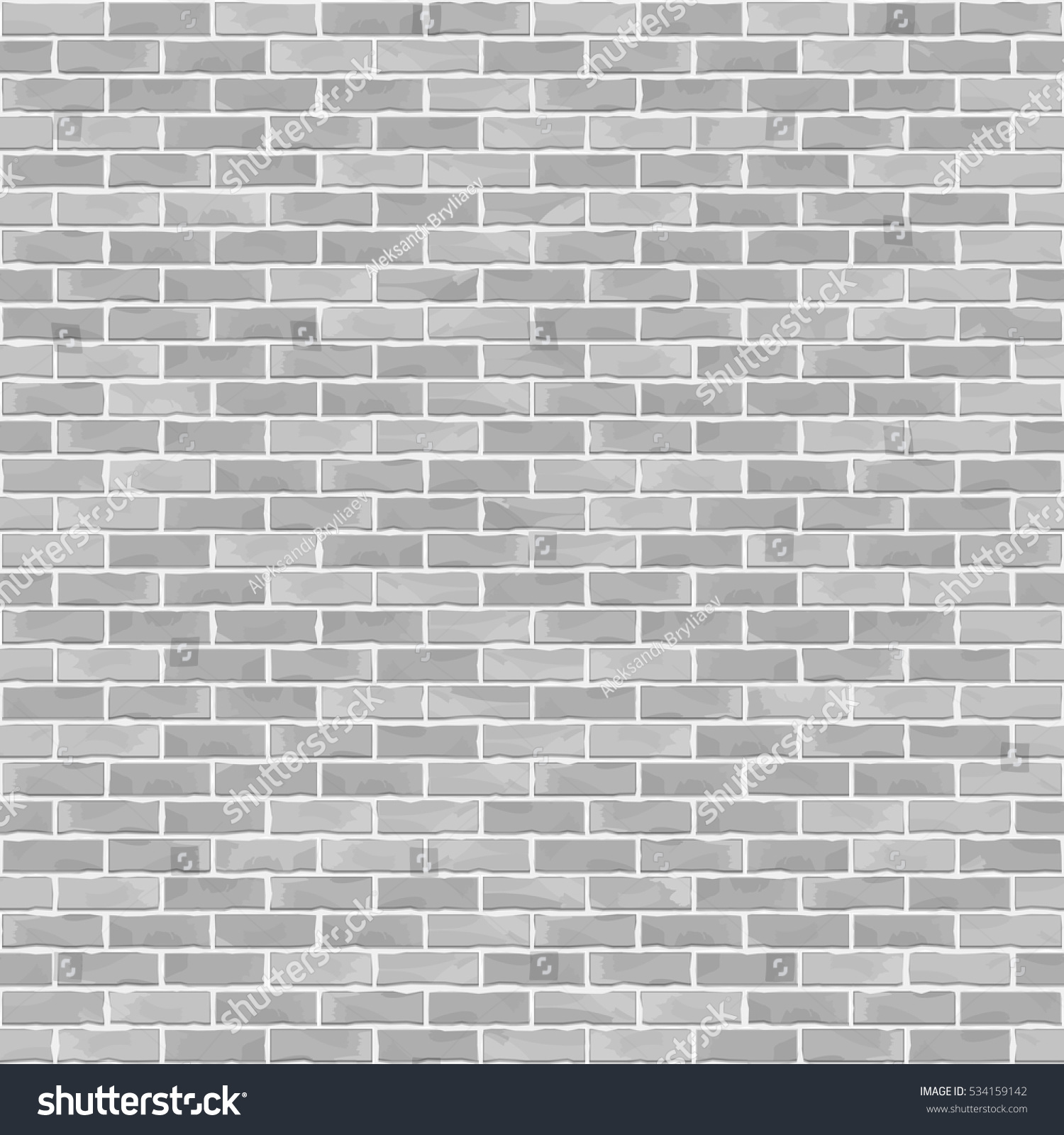 Seamless Brick Wall Background White Brick Stock Vector 534159142 ...