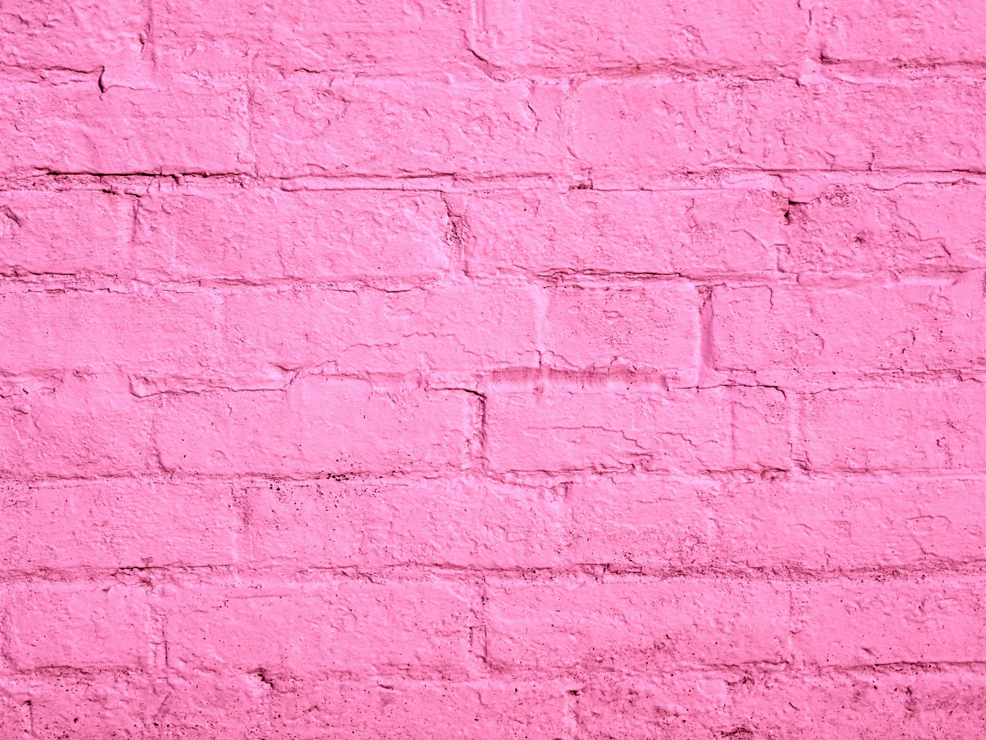 Pink Painted Brick Wall Free Stock Photo - Public Domain Pictures