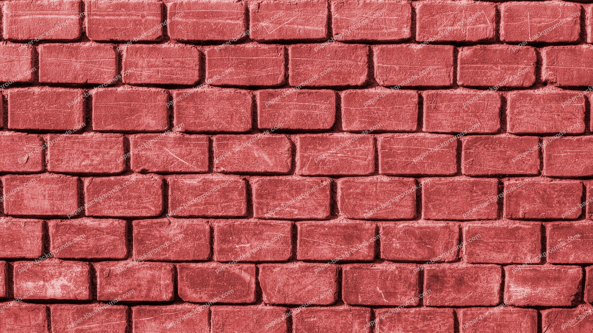 Paper Backgrounds | Red Rugged Brick Wall