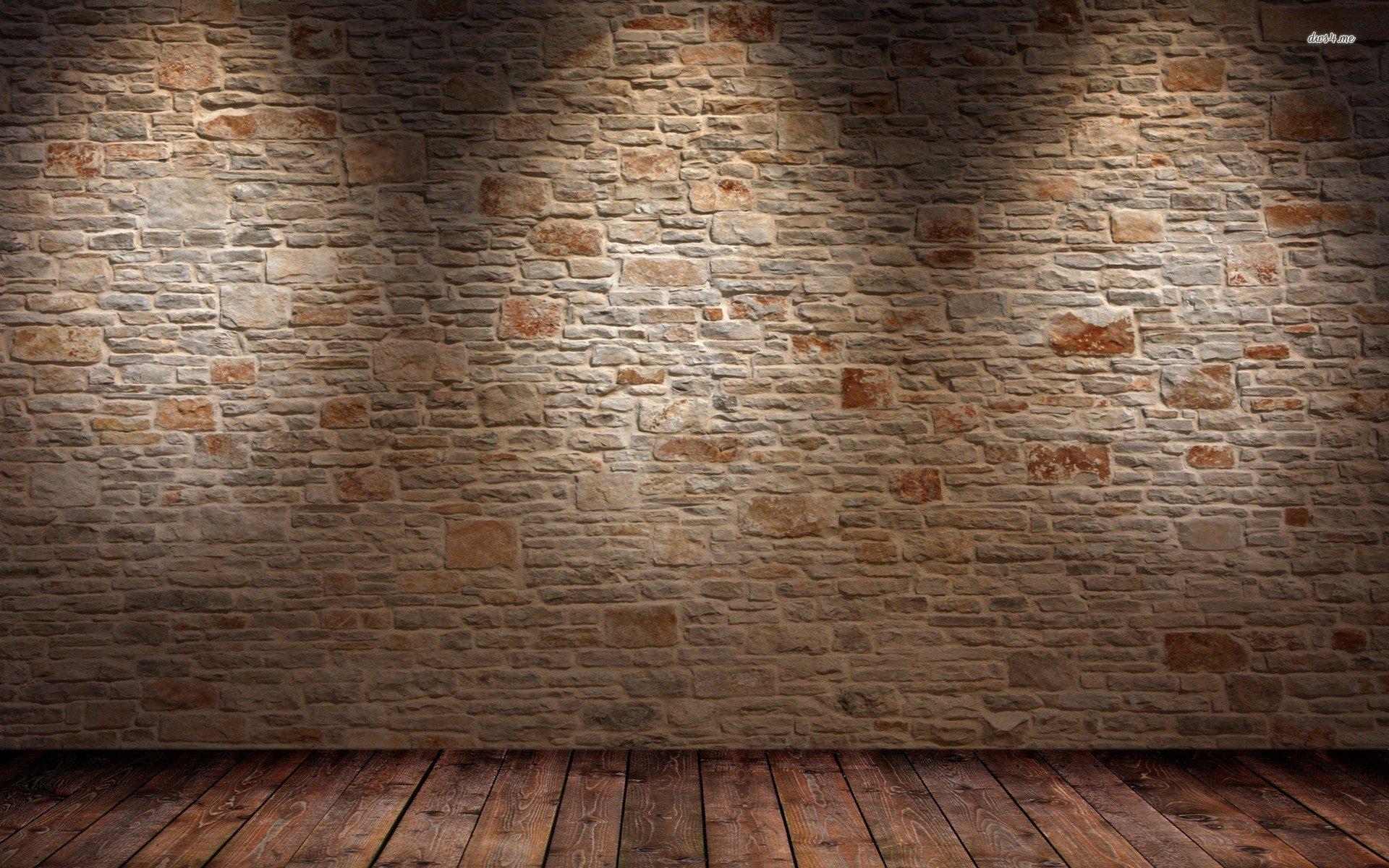 Brick Wall And Wood Floor 674076 - WallDevil