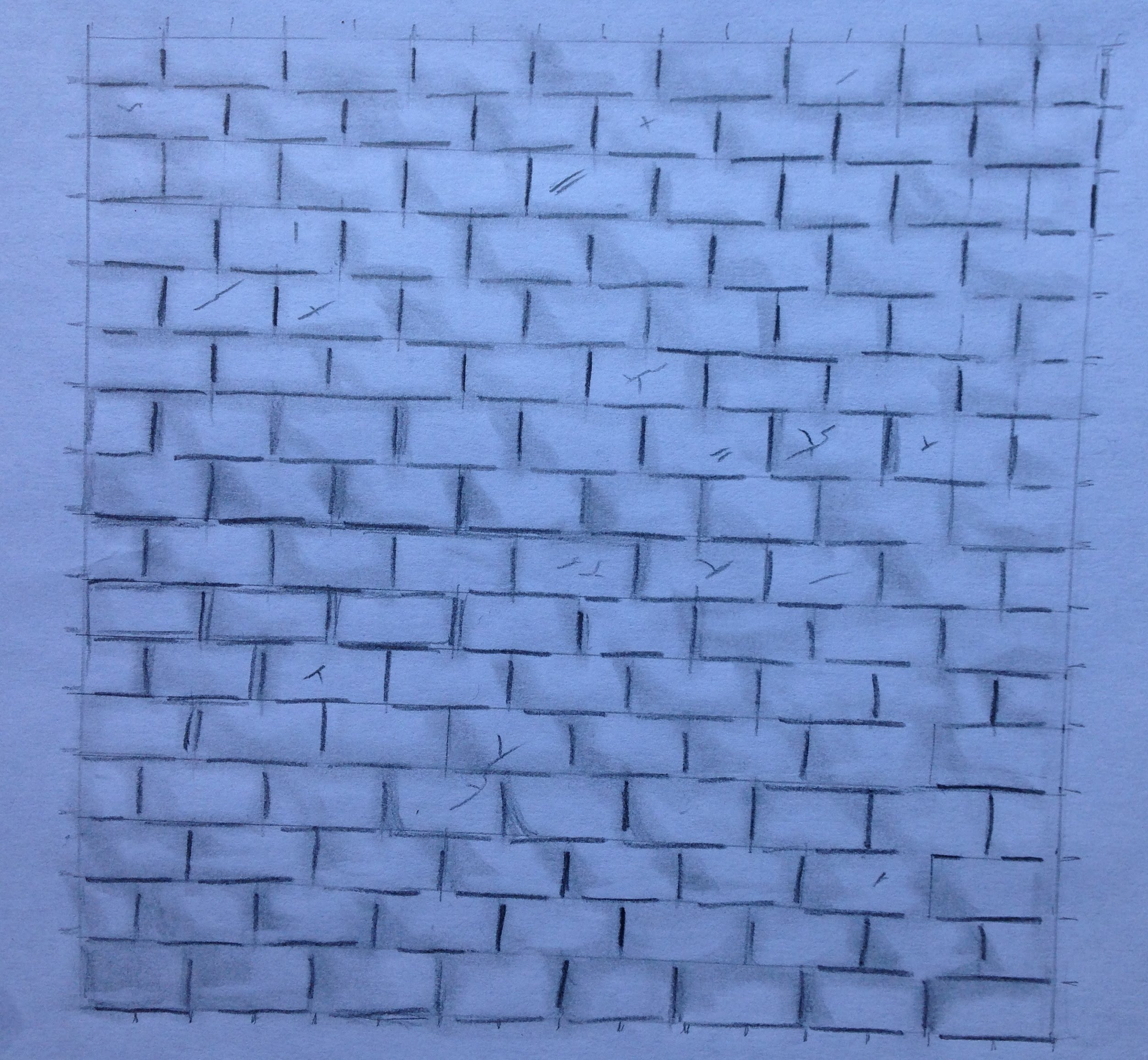 How to Draw a Brick Wall Step by Step - YouTube