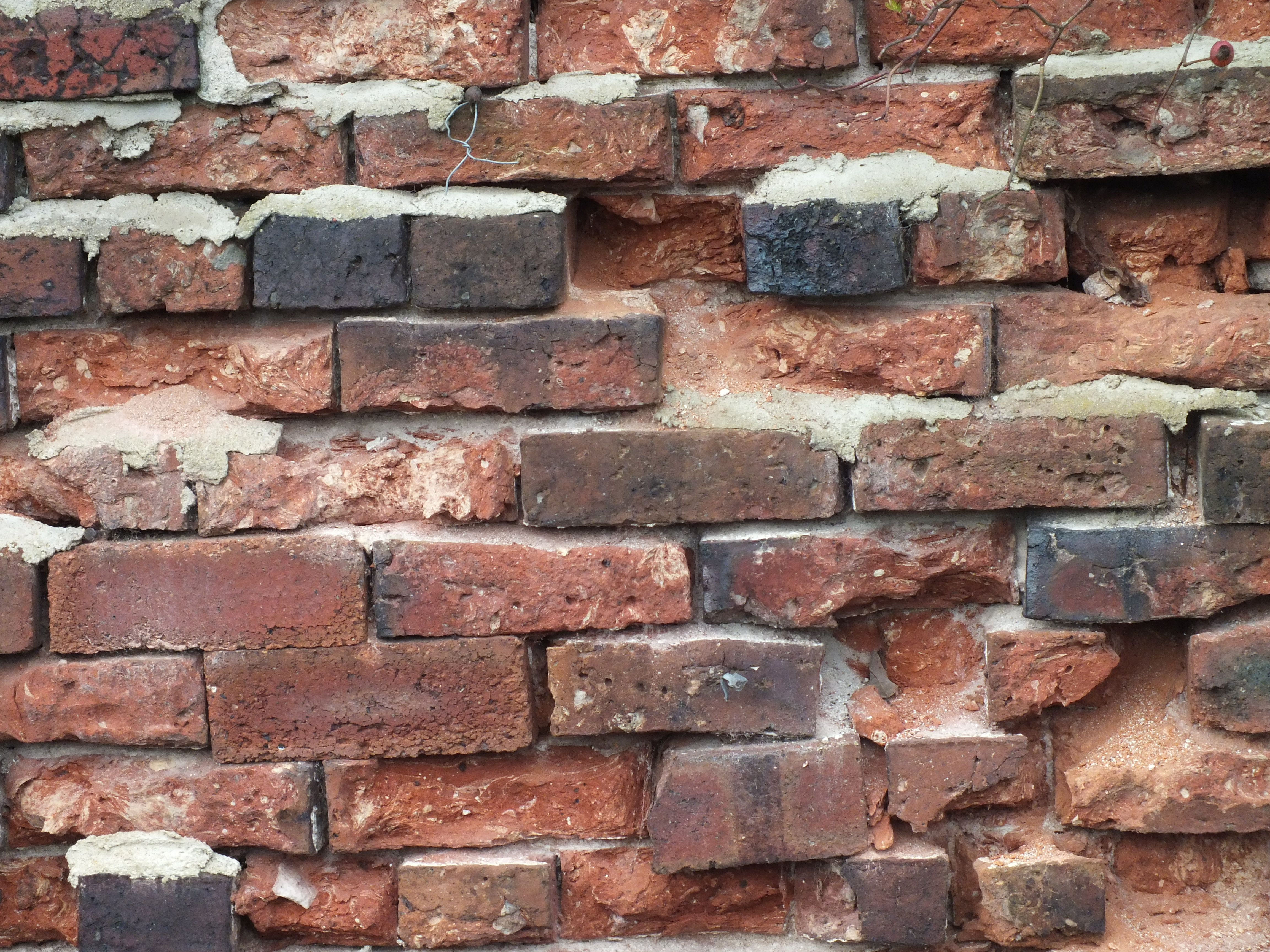 Brick Wall, Brick, Grunge, Red, Rough, HQ Photo