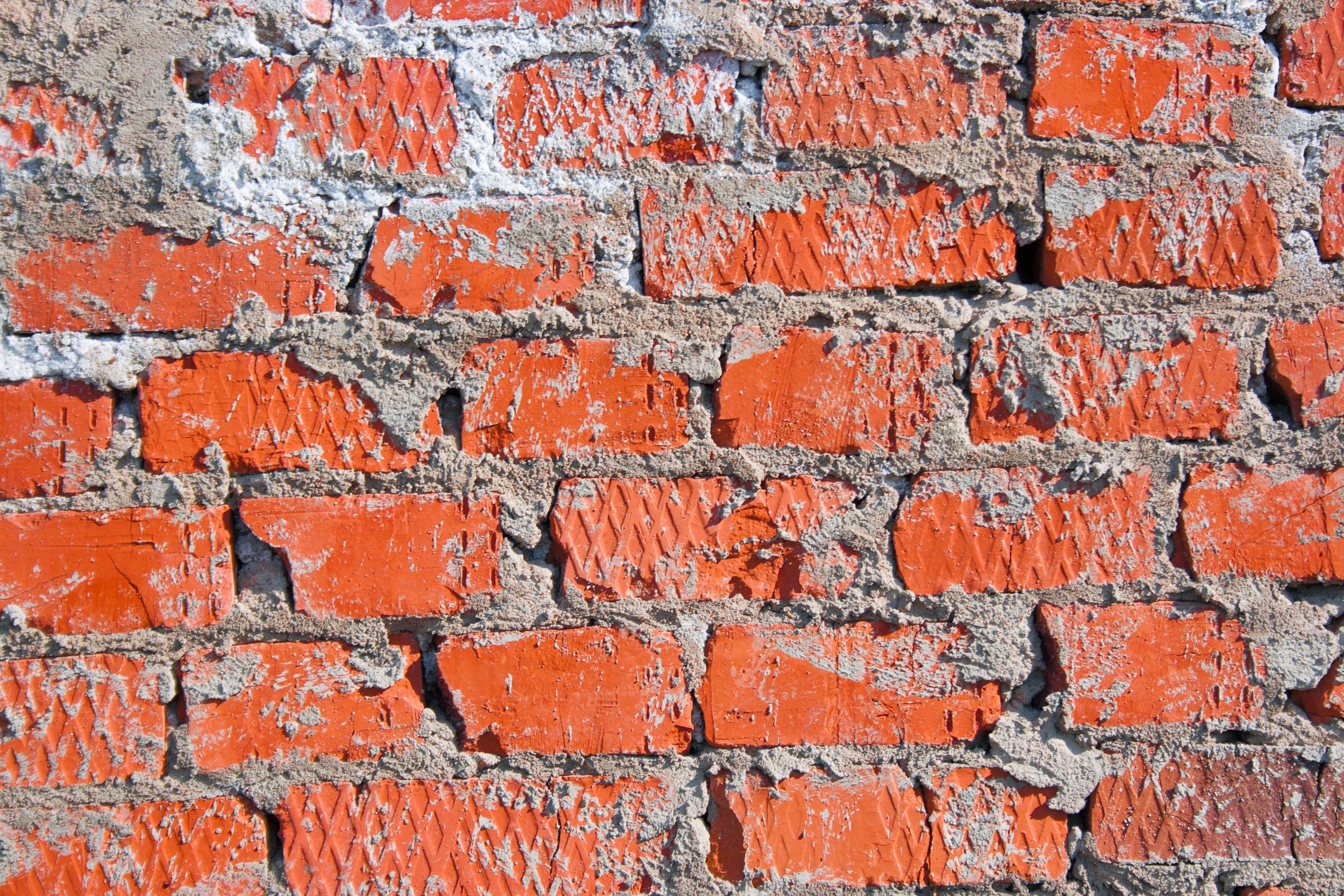 Brick Wall, Bricks, Red, Texture, Surface, HQ Photo