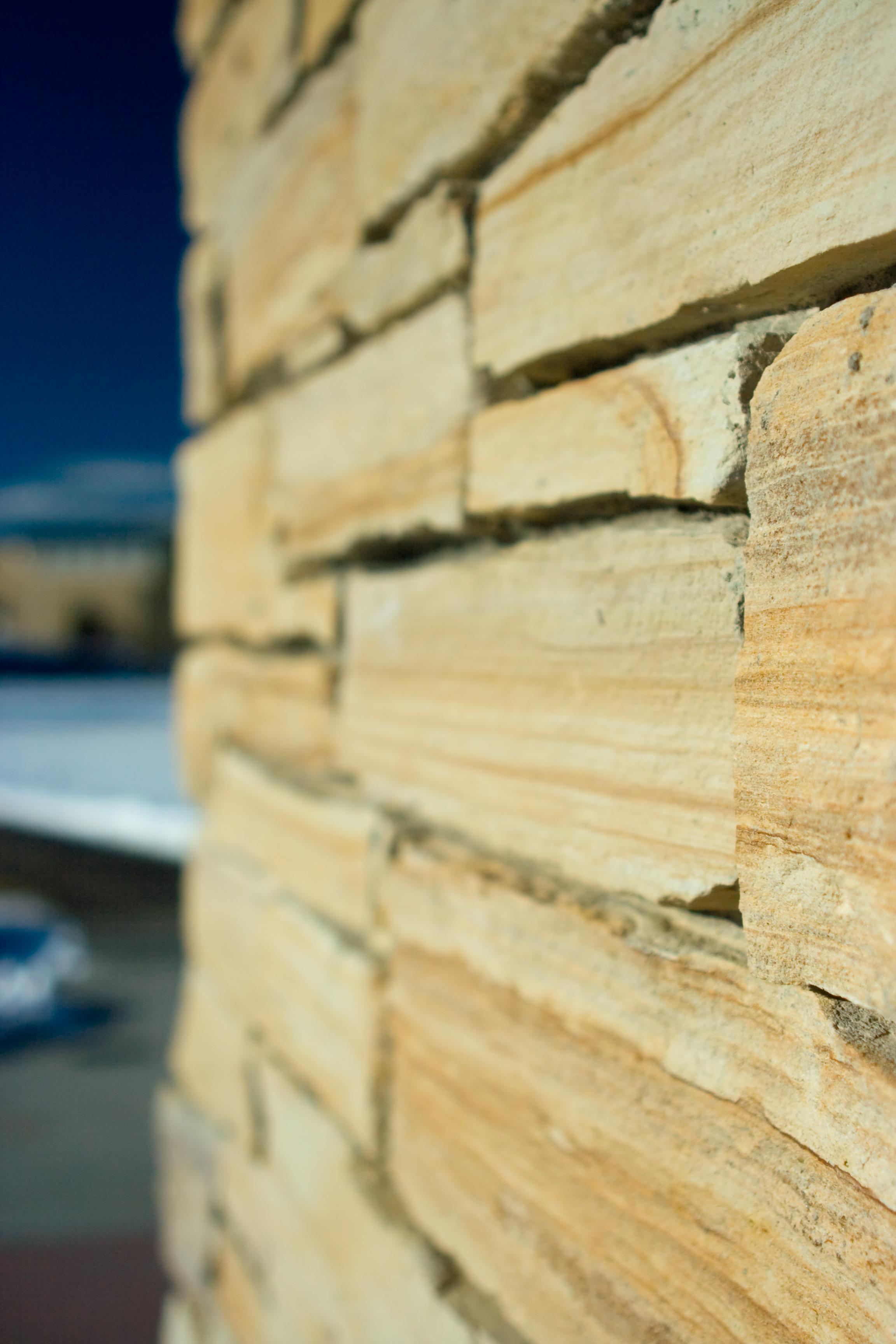 Brick wall, Blue, Brick, Building, Gold, HQ Photo