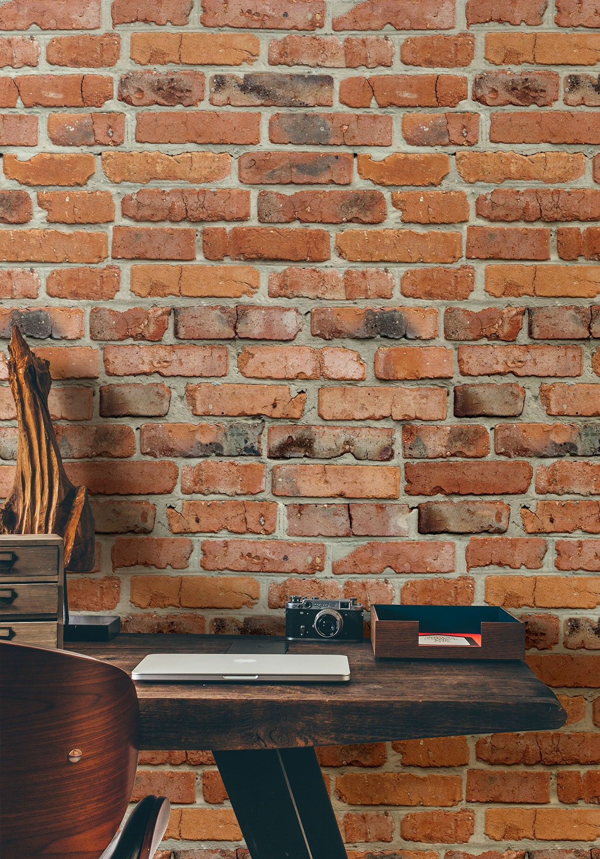 Realistic Exposed Red Brick Wallpaper | Milton & King