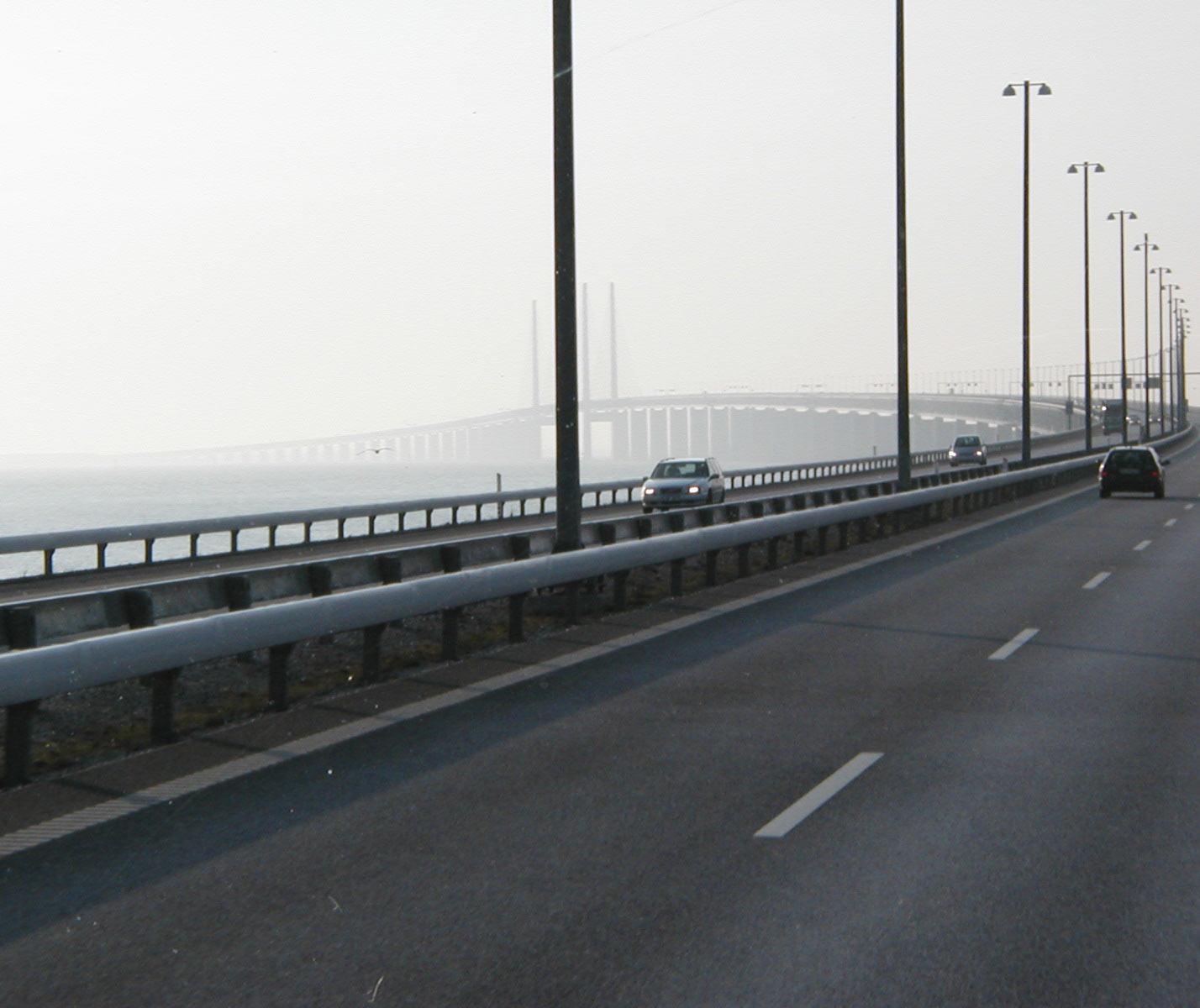 Bridge, Car, Construction, Foggy, HQ Photo