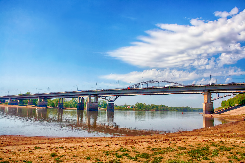 bridge, Bashkortostan, Blue, Building, City, HQ Photo