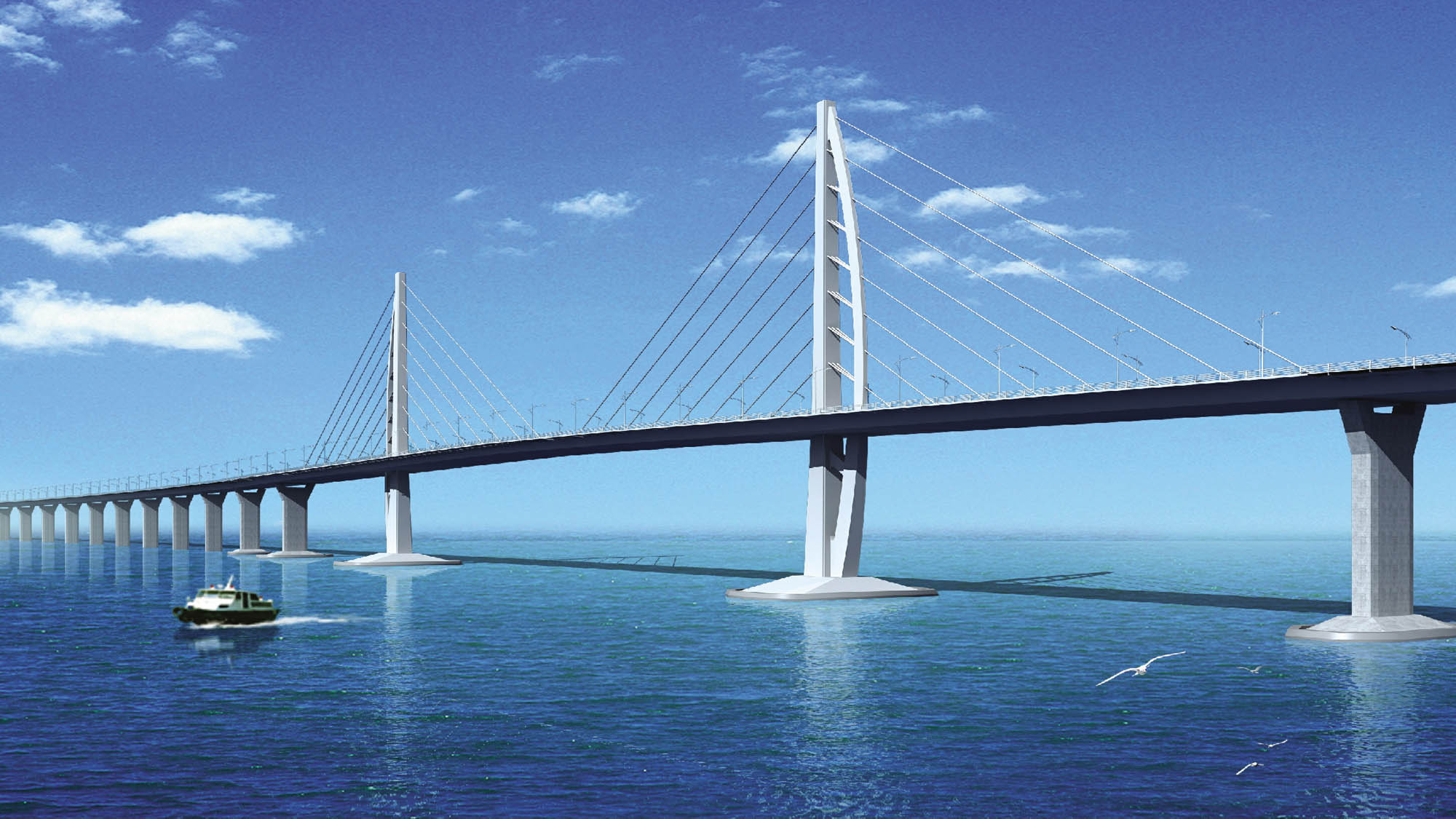 Designing bridge and the artificial islands for Hong Kong-Zhuhai ...