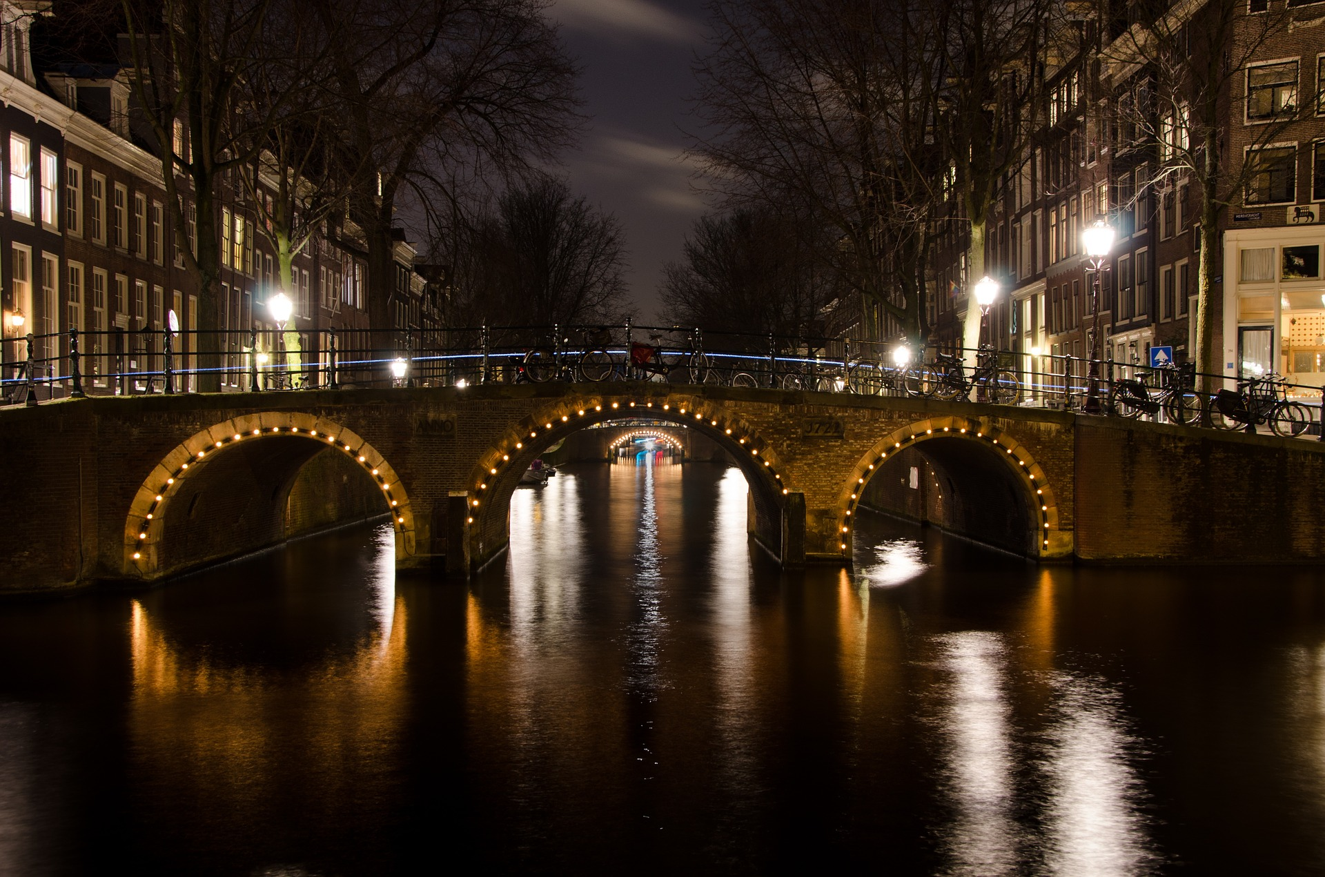 Bridge in the City, Architecture, Bridge, Building, Canal, HQ Photo