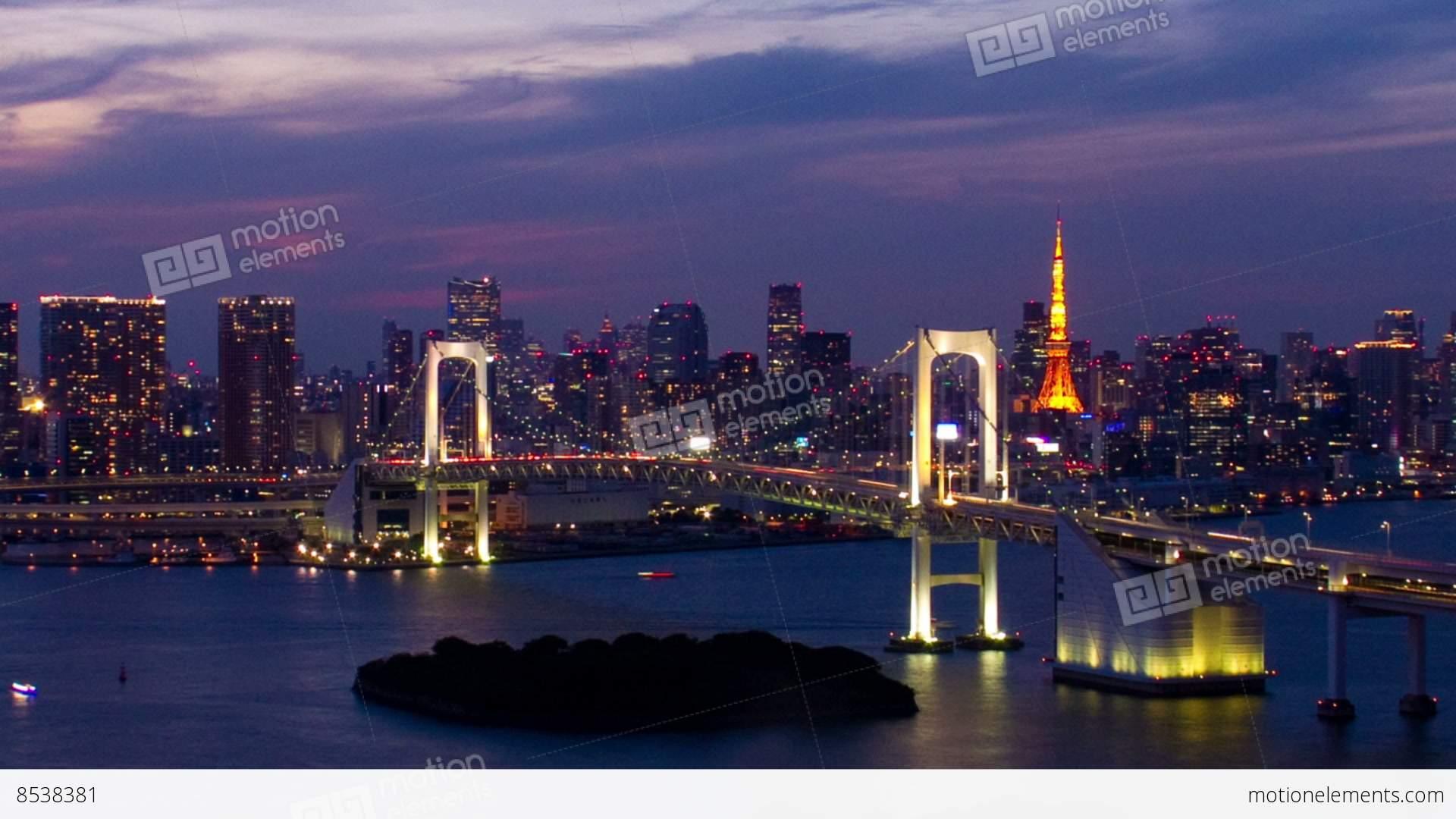 Bridge in time-lapse photo