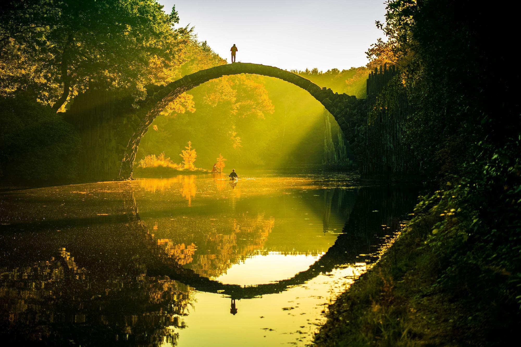 Bridge reflection photo
