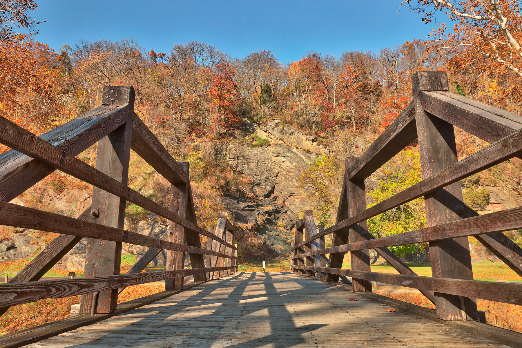 Bridge to fall - harpers ferry hdr photo