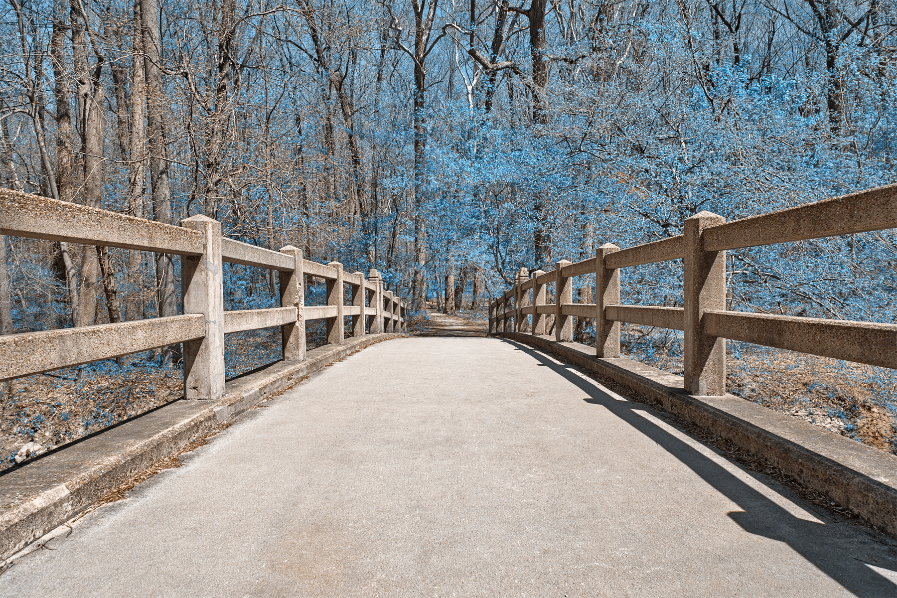 Bridge to winter - hdr photo