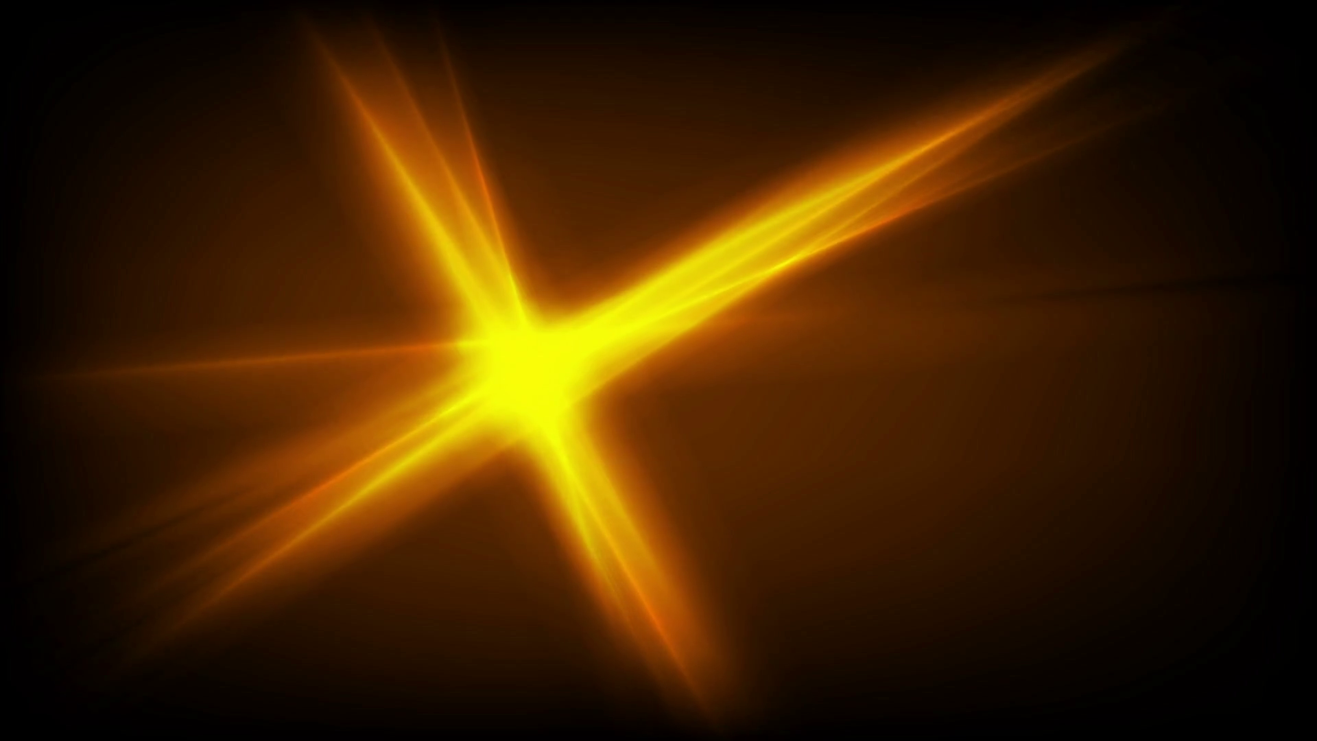 Bright glowing orange star glare beams motion design. Seamless loop ...