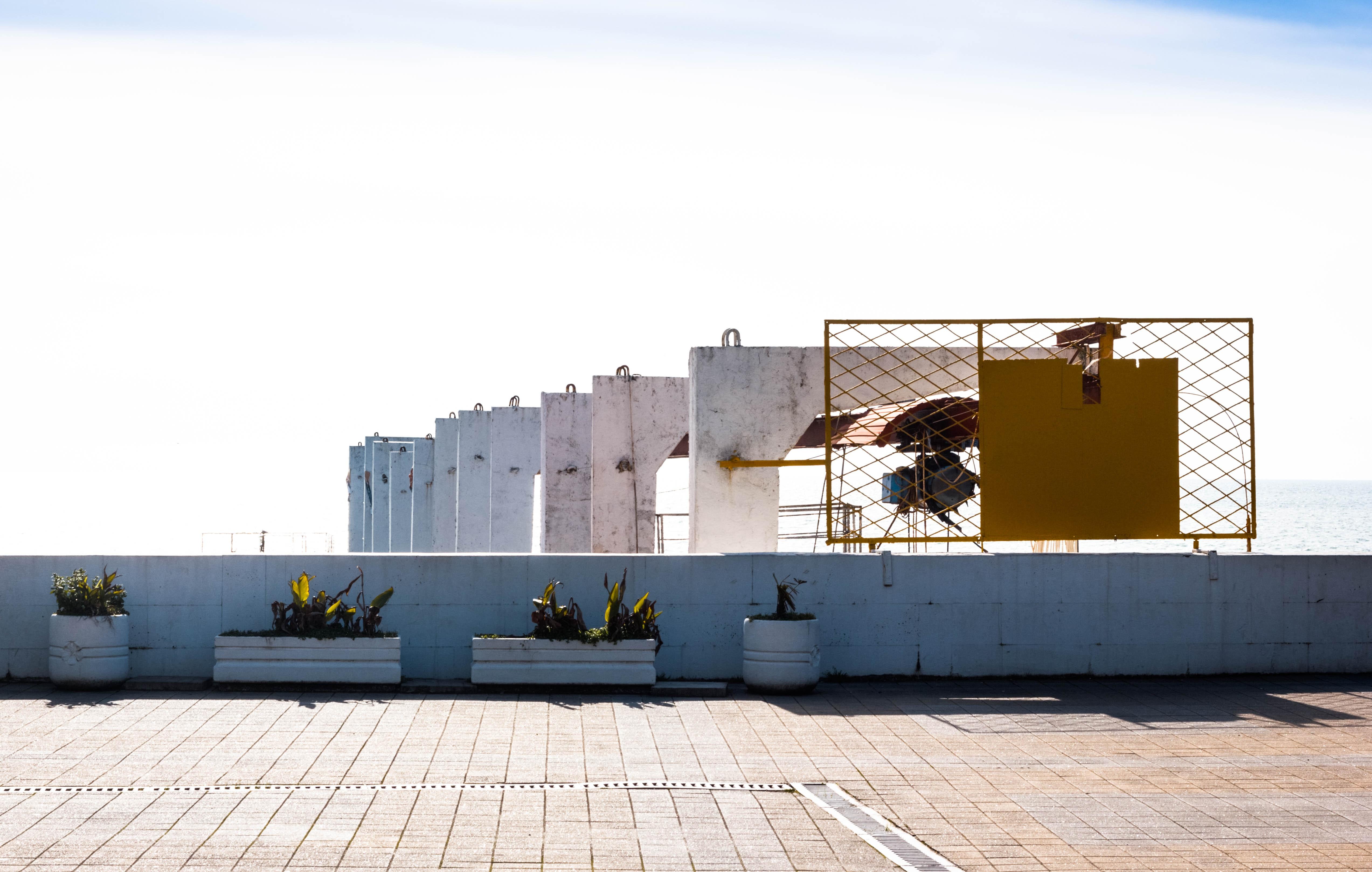 Bright Sky, Bright, Bright day, Clear sky, Concrete structure, HQ Photo