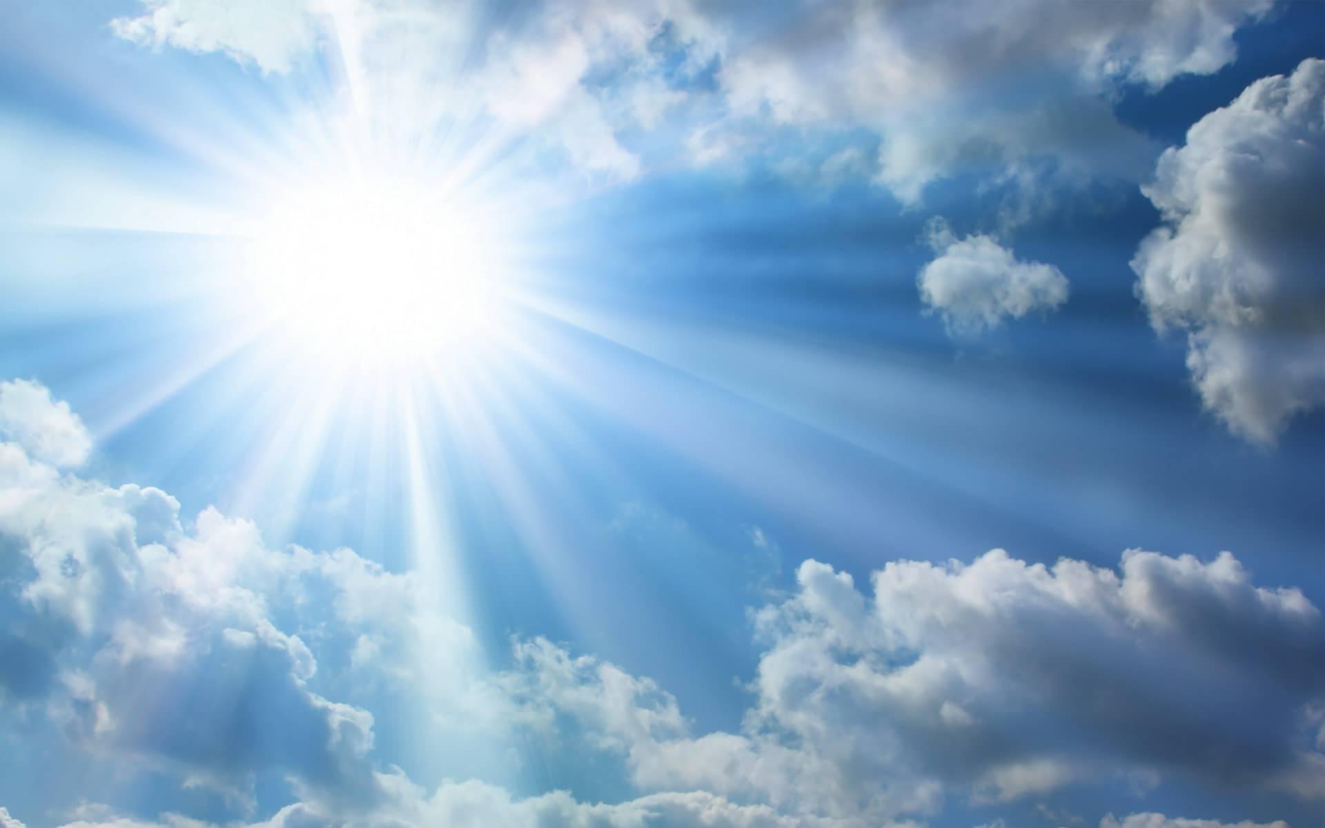 bright sun and sky background   WpFASTER