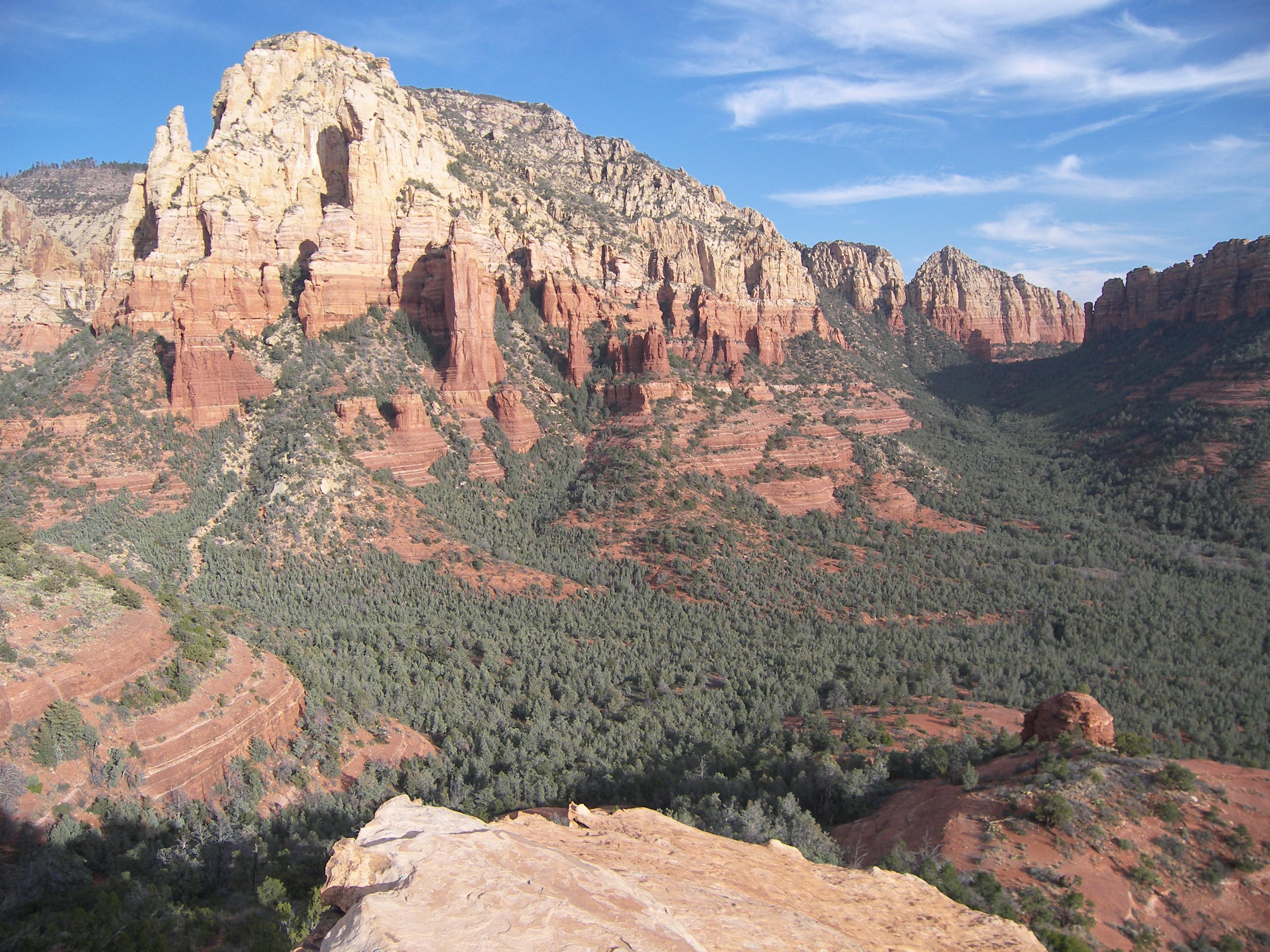 Brins Mesa Rim, Ridge, Red rocks, Outdoor, Rock, HQ Photo