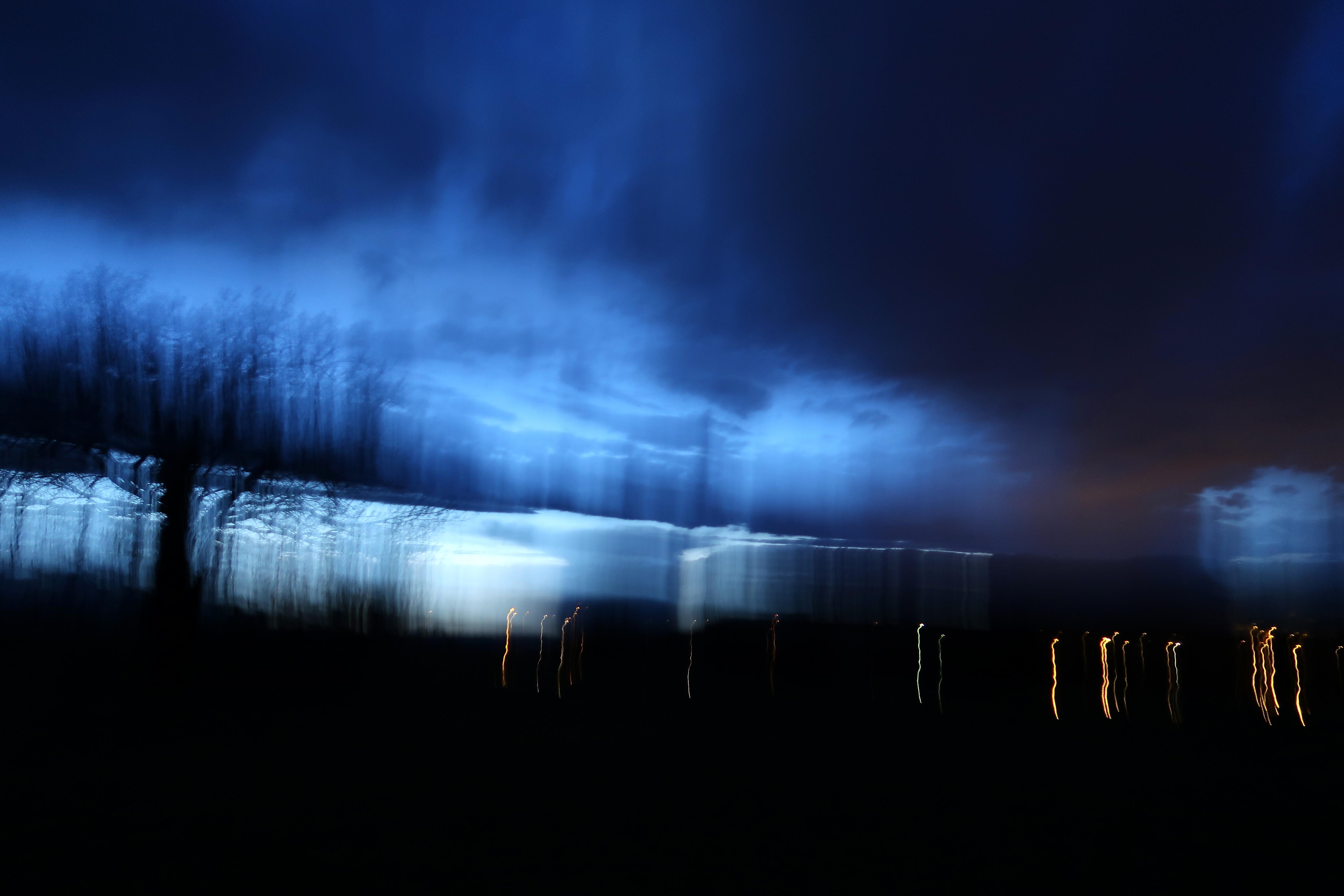 Brisure du temps, Abstrait, Bleu, Blur, Lines, HQ Photo