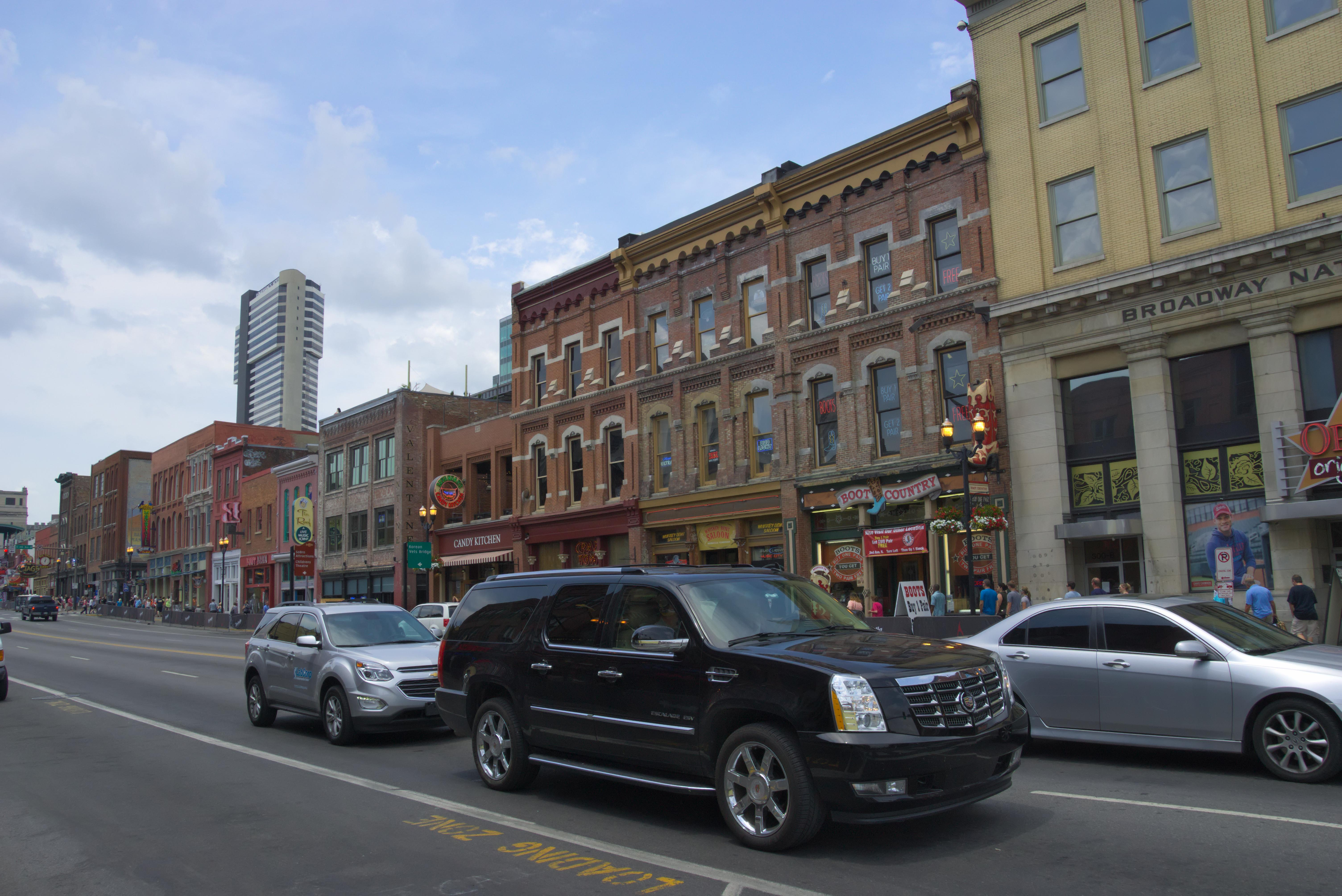Broadway in Nashville, Architecture, Building, Building complex, Car, HQ Photo