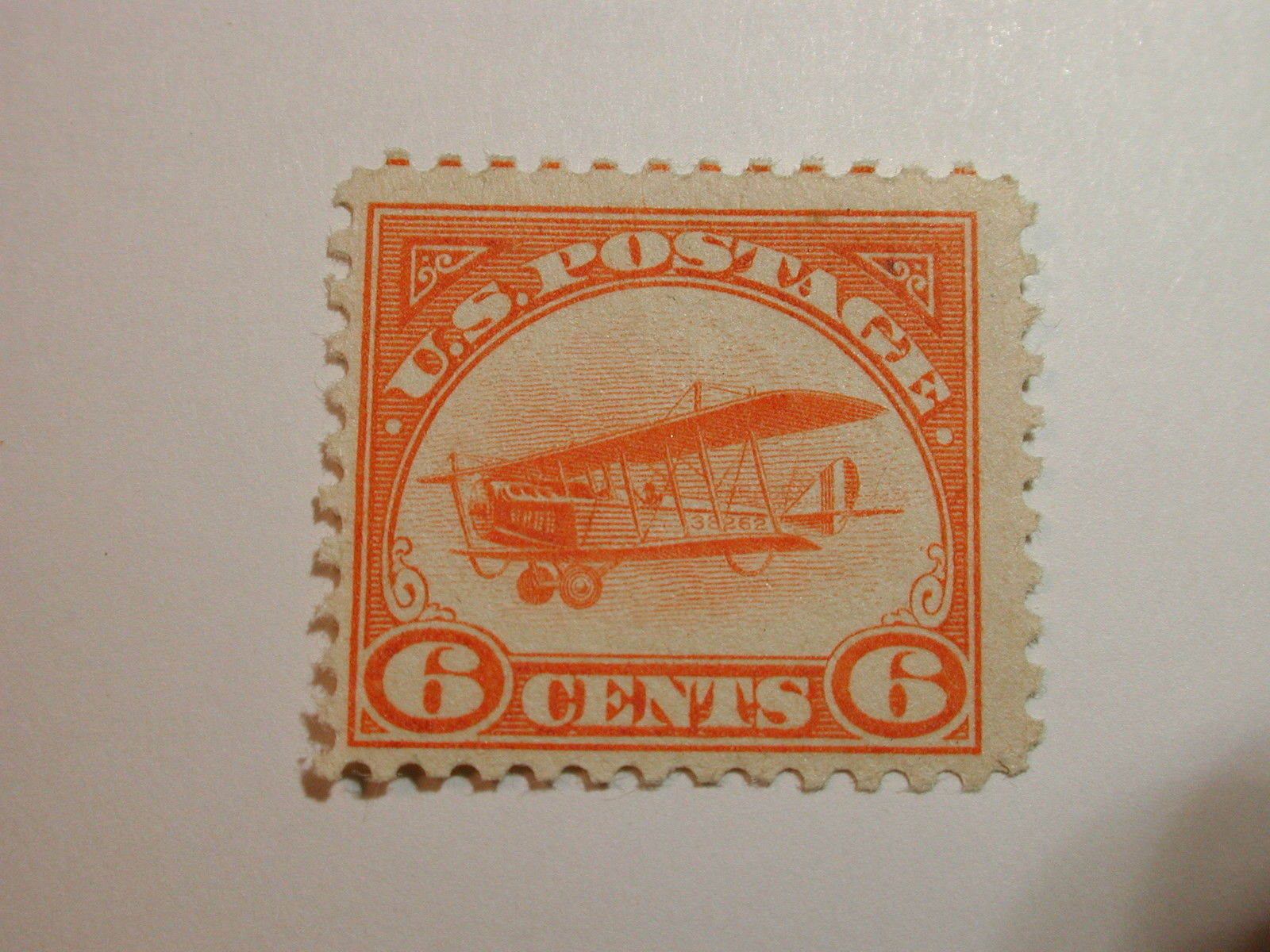 Brown airmail stamp photo