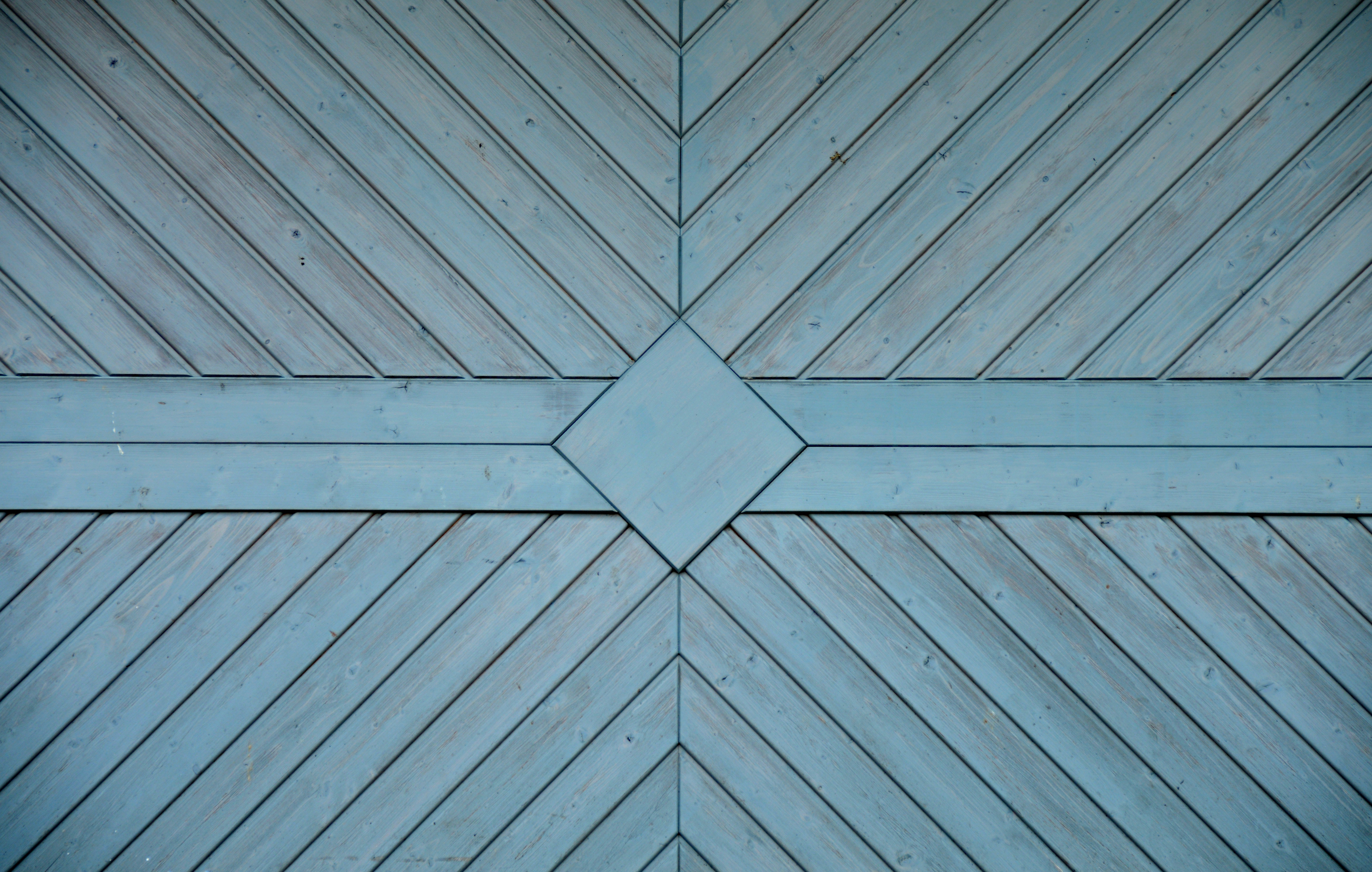Brown and Blue Wooden Surface, Architecture, Design, Hardwood, Pattern, HQ Photo