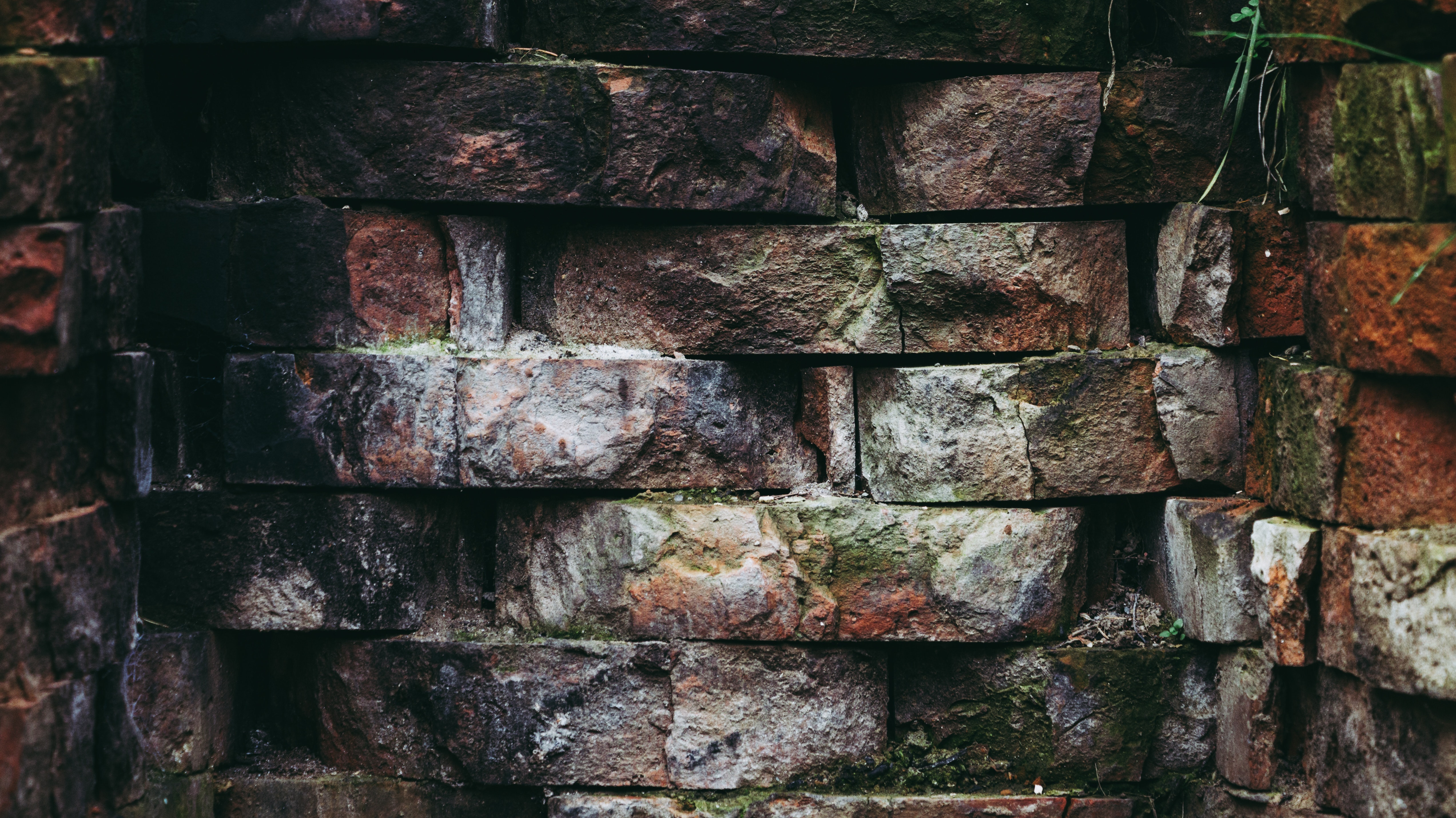 Brown and Grey Brick Wall, Bricks, Brickwork, Close -up, Design, HQ Photo
