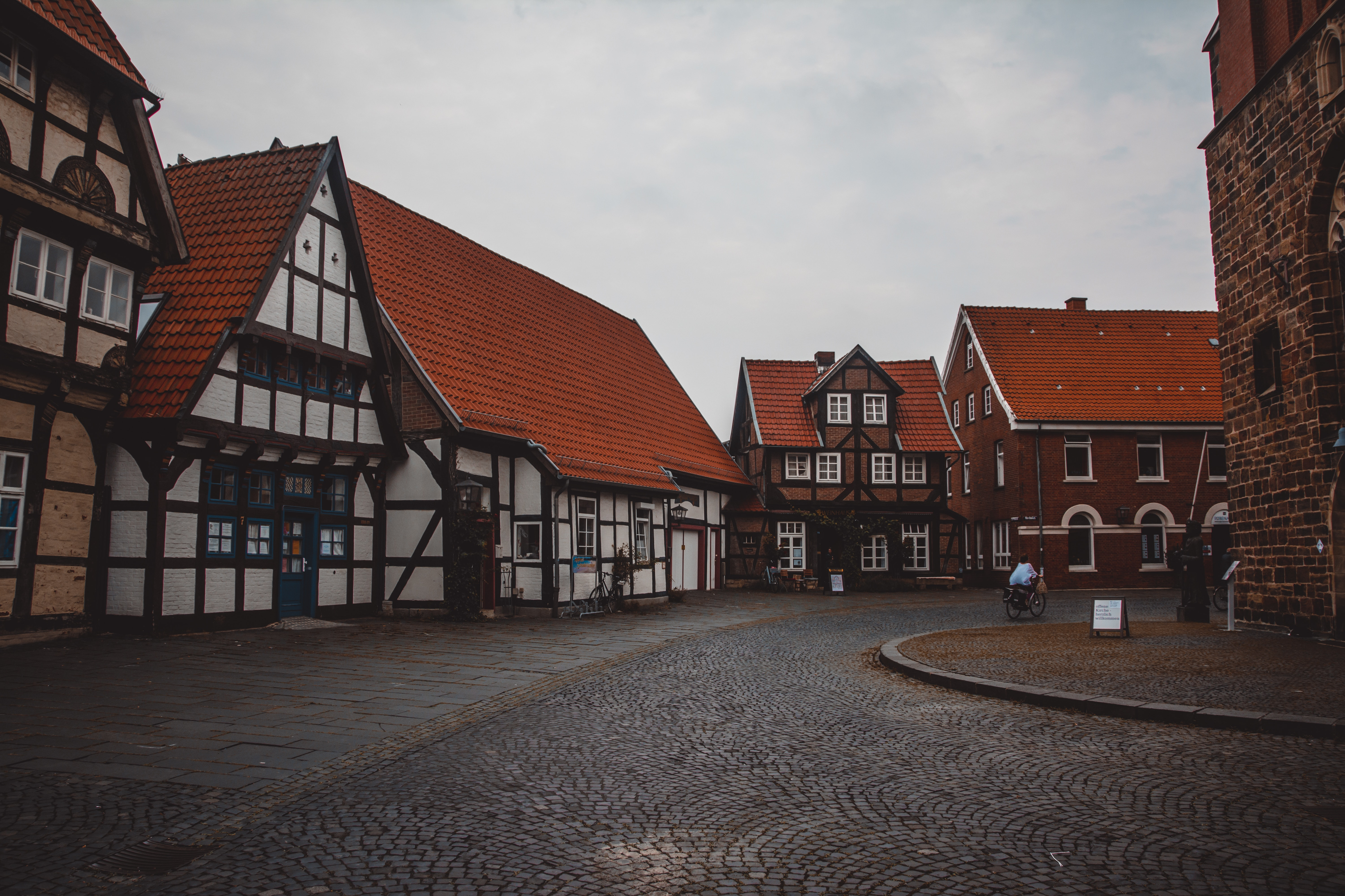 Brown and white wooden houses photo