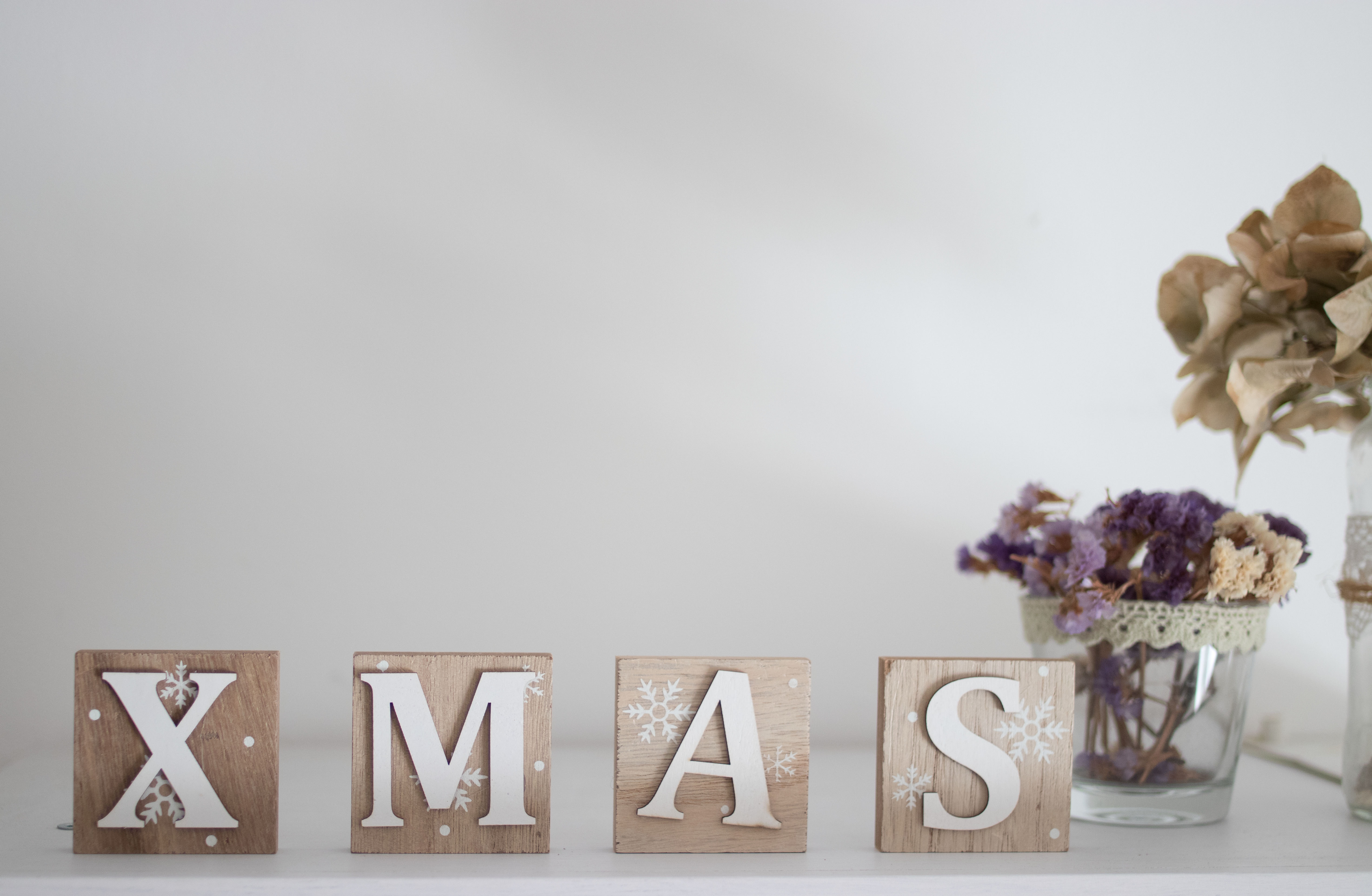 Brown And White Wooden Xmas Letter Table Decor Letters Little